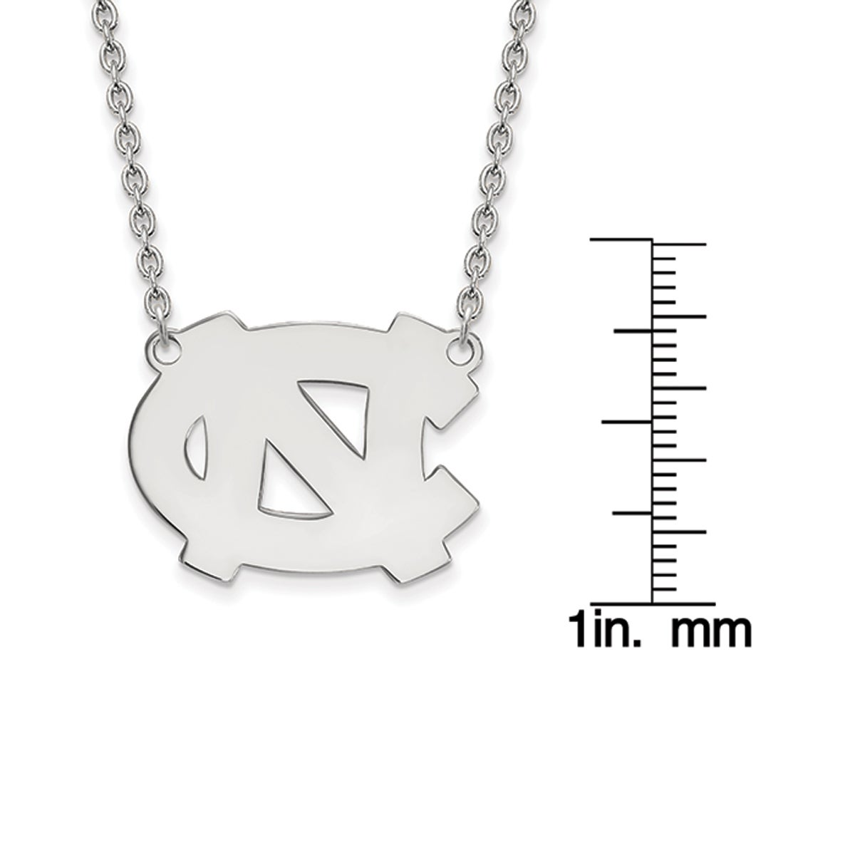 f6a4b277 Shop Versil Sterling Silver LogoArt University of North Carolina Large  Pendant with Neckla - Free Shipping Today - Overstock.com - 16398998