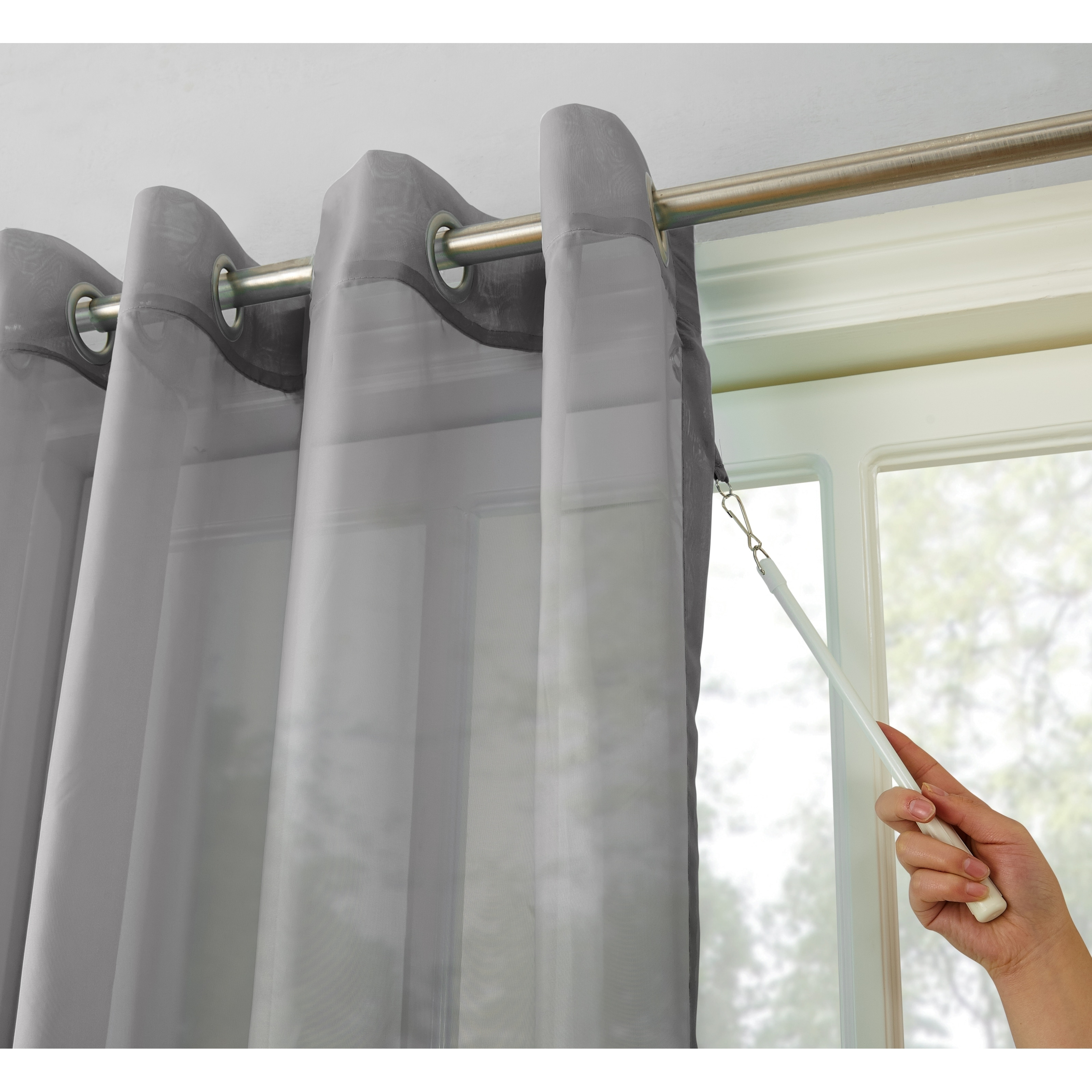 918 Emily White Extra Wide Sheer Voile Sliding Door Patio Curtain Panel 100 X 84 Free Shipping On Orders Over 45 16402428
