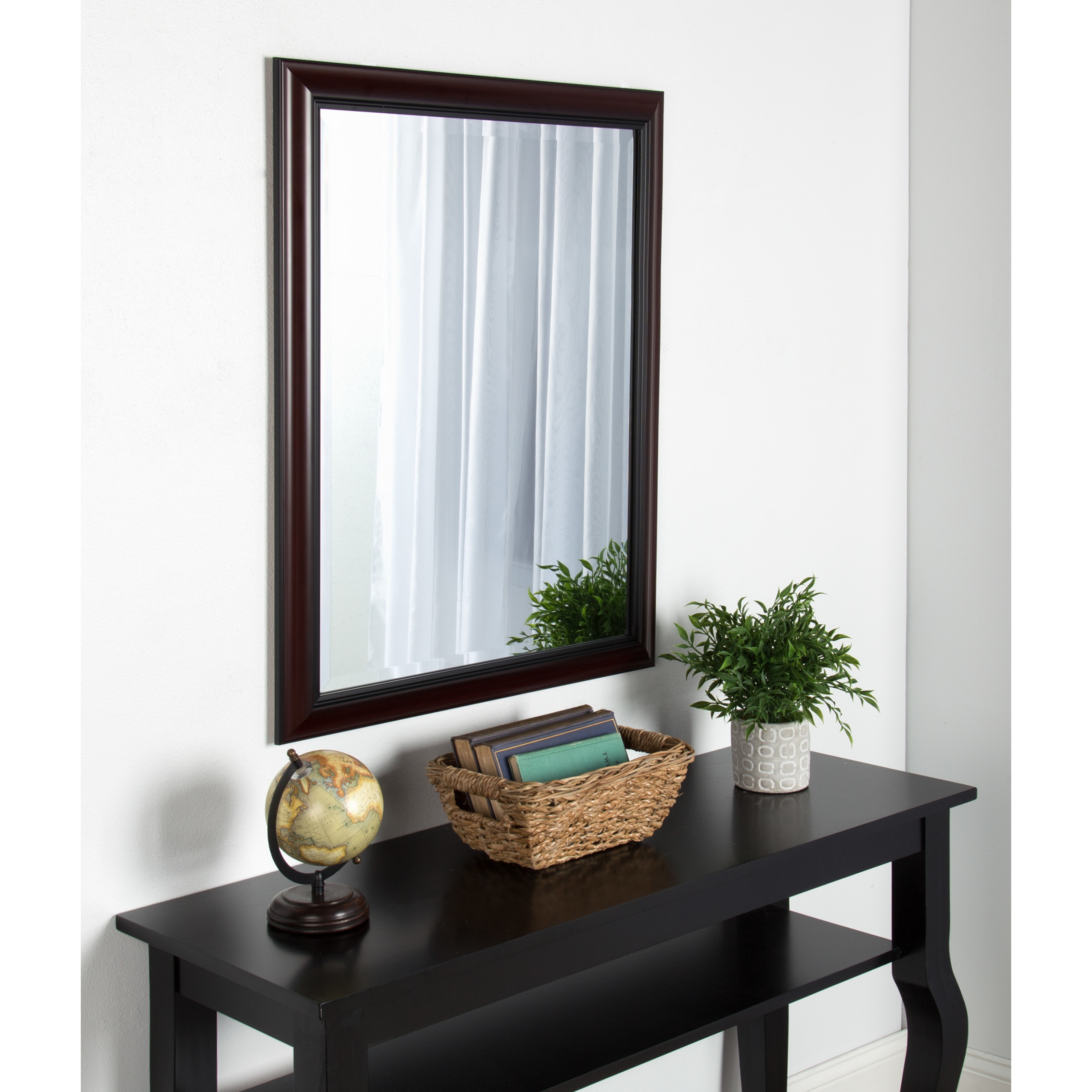 Shop Kate And Laurel Dalat Cherry Framed Beveled Wall Mirror Free