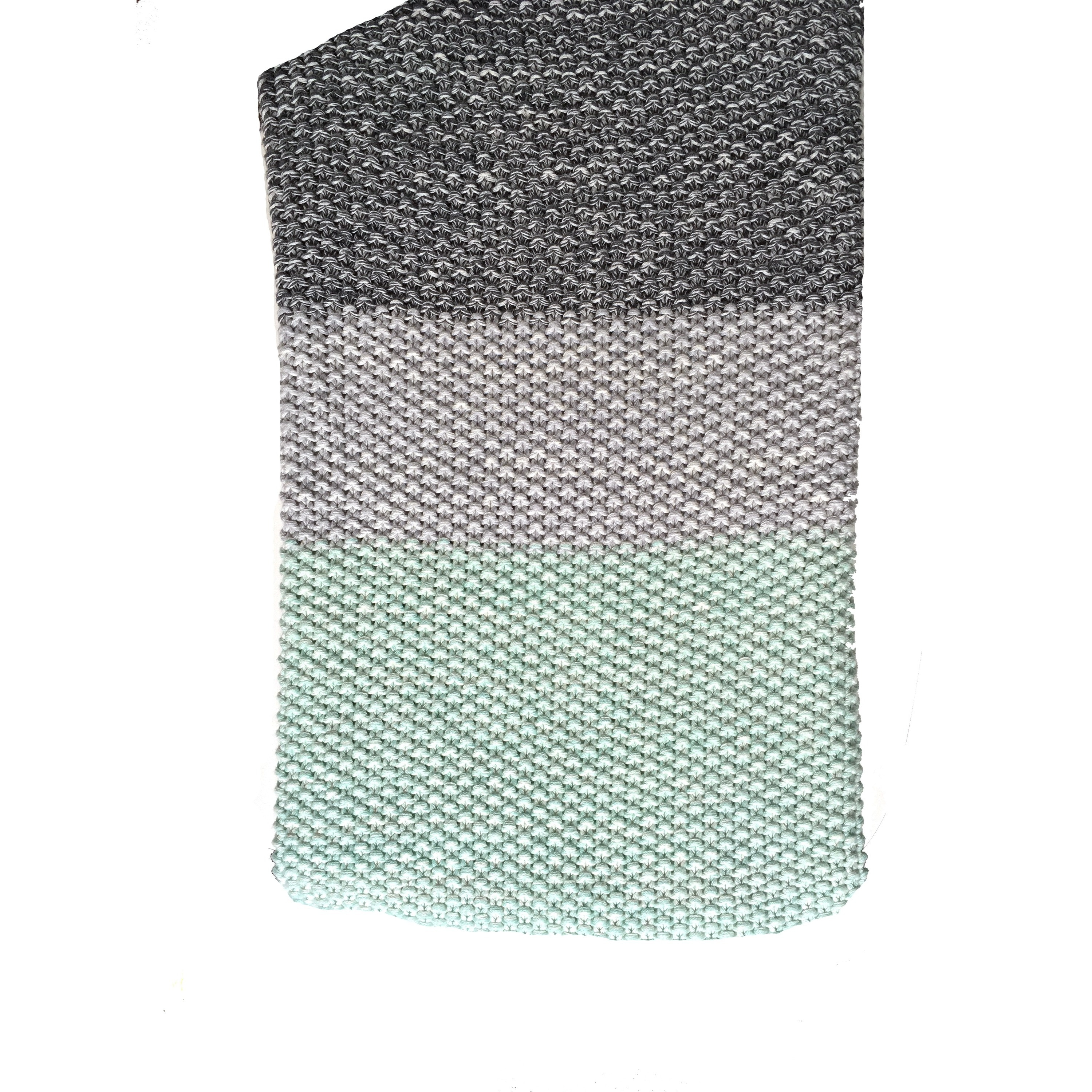 Vena Collection Green Grey Striped Cotton Throw Blanket By Pink Lemonade Free Shipping Today 16402683