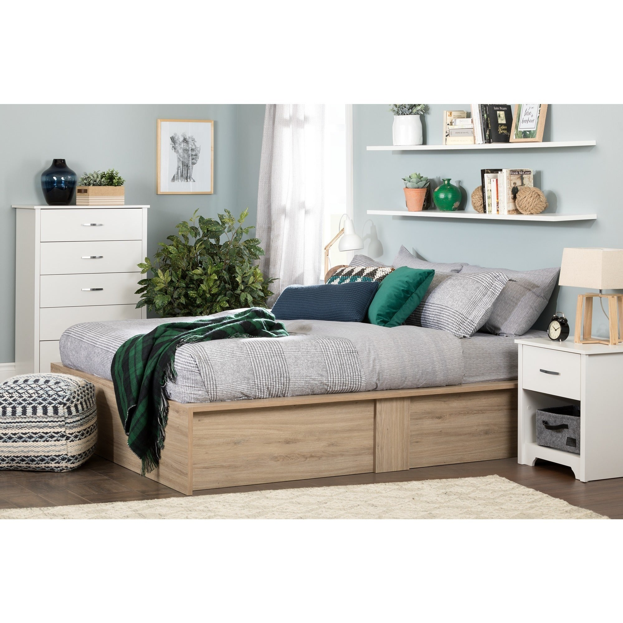 South Shore Fusion 60 inch Ottoman Queen Storage Bed Free Shipping