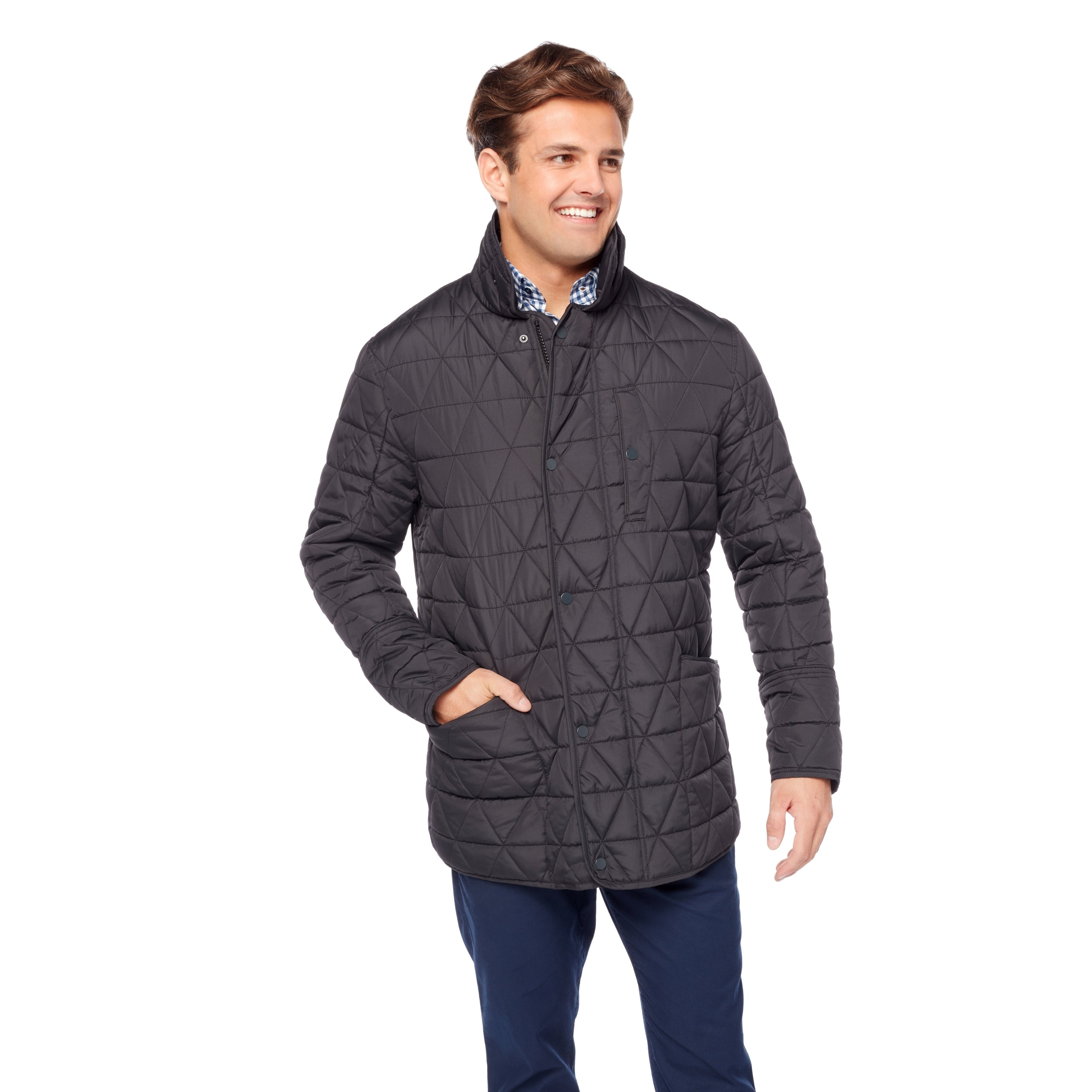 Shop Marc New York Big And Tall Polyfill Quilted Field Jacket Free