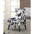 Dominick Black and White Upholstered Accent Chair