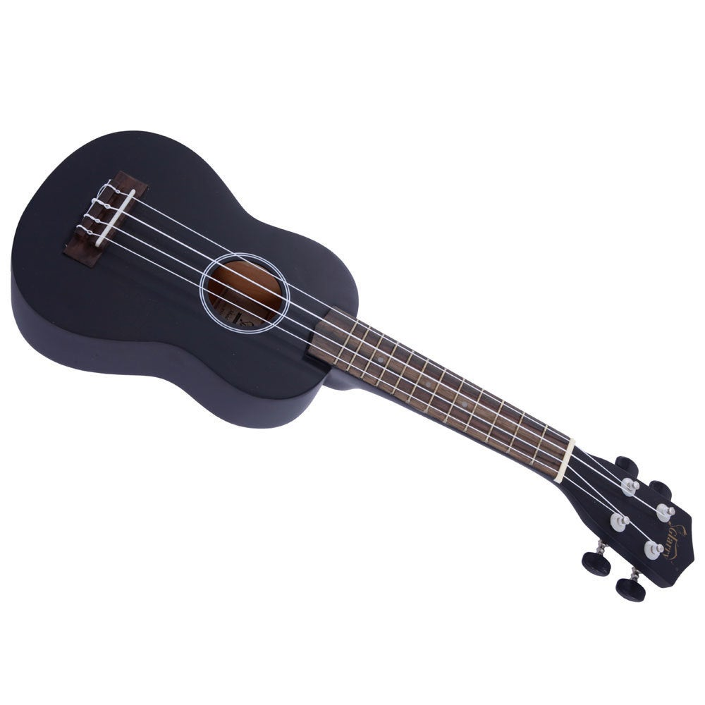 "Shop Glarry UK101 21"" Pure Color Rosewood Fingerboard Basswood Soprano Ukulele with Bag Black - Free Shipping On Orders Over $45 - Overstock.com - 16404108"