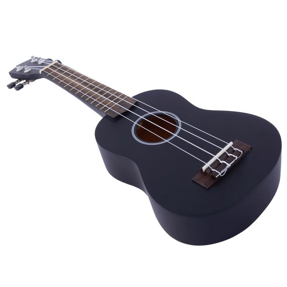 """Shop Glarry UK101 21"""" Pure Color Rosewood Fingerboard Basswood Soprano Ukulele with Bag Black - Free Shipping On Orders Over $45 - Overstock - 16404108"""