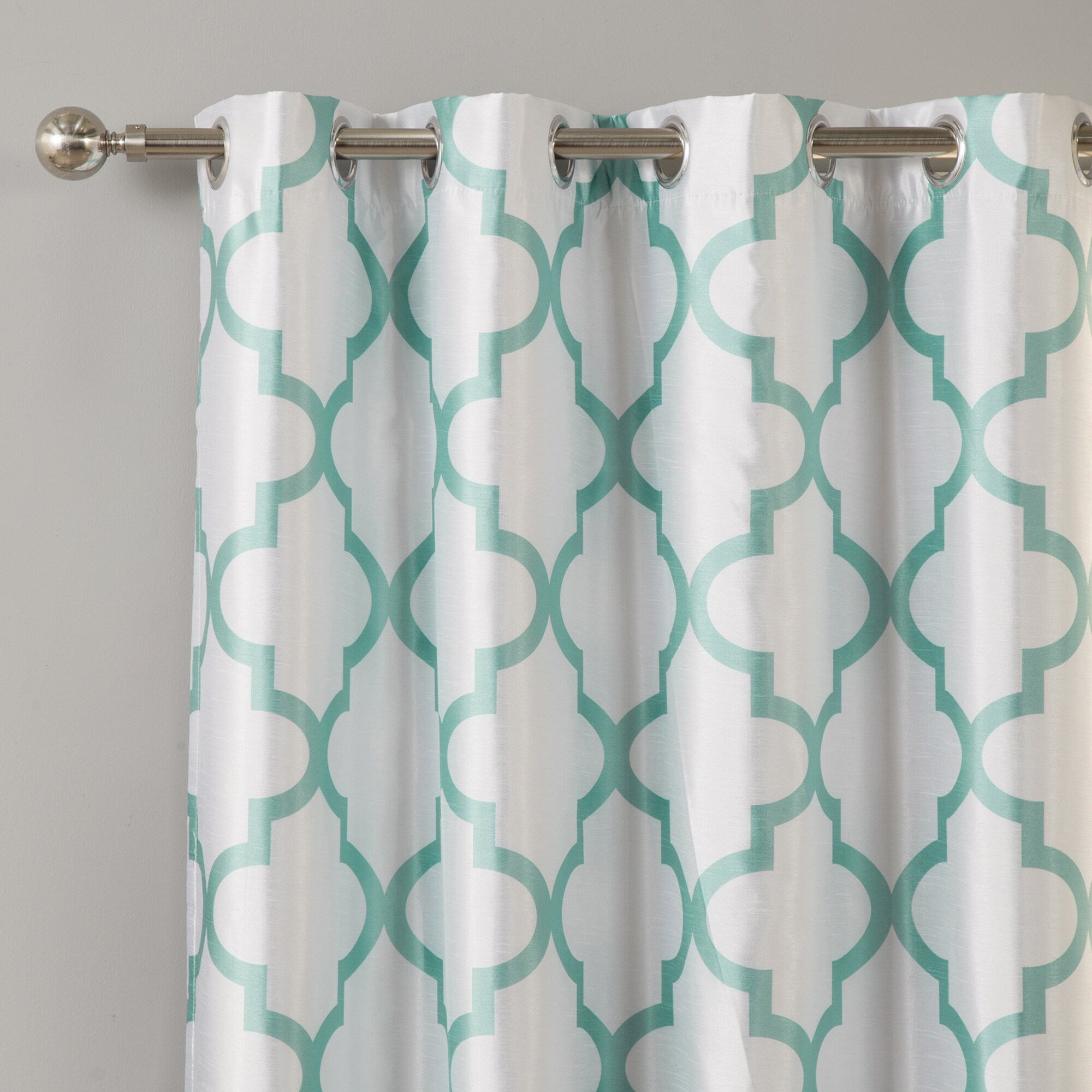 moroccan with of blackout window amazoncom curtain s curtains gray panels decor gallery free meridian quatrefoil geometric teal grommet