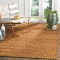 Safavieh Natural Fiber Coastal Geometric Hand-Woven Jute Gold Area Rug (3' x 5')
