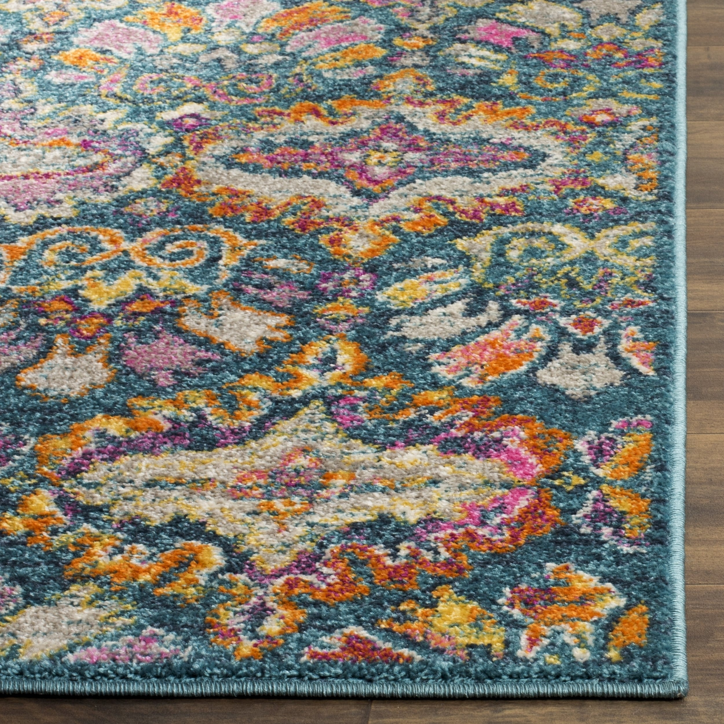 Safavieh Madison Bohemian Geometric Blue/ Orange Area Rug (5u00271 X 7u00276)    Free Shipping Today   Overstock.com   22758727