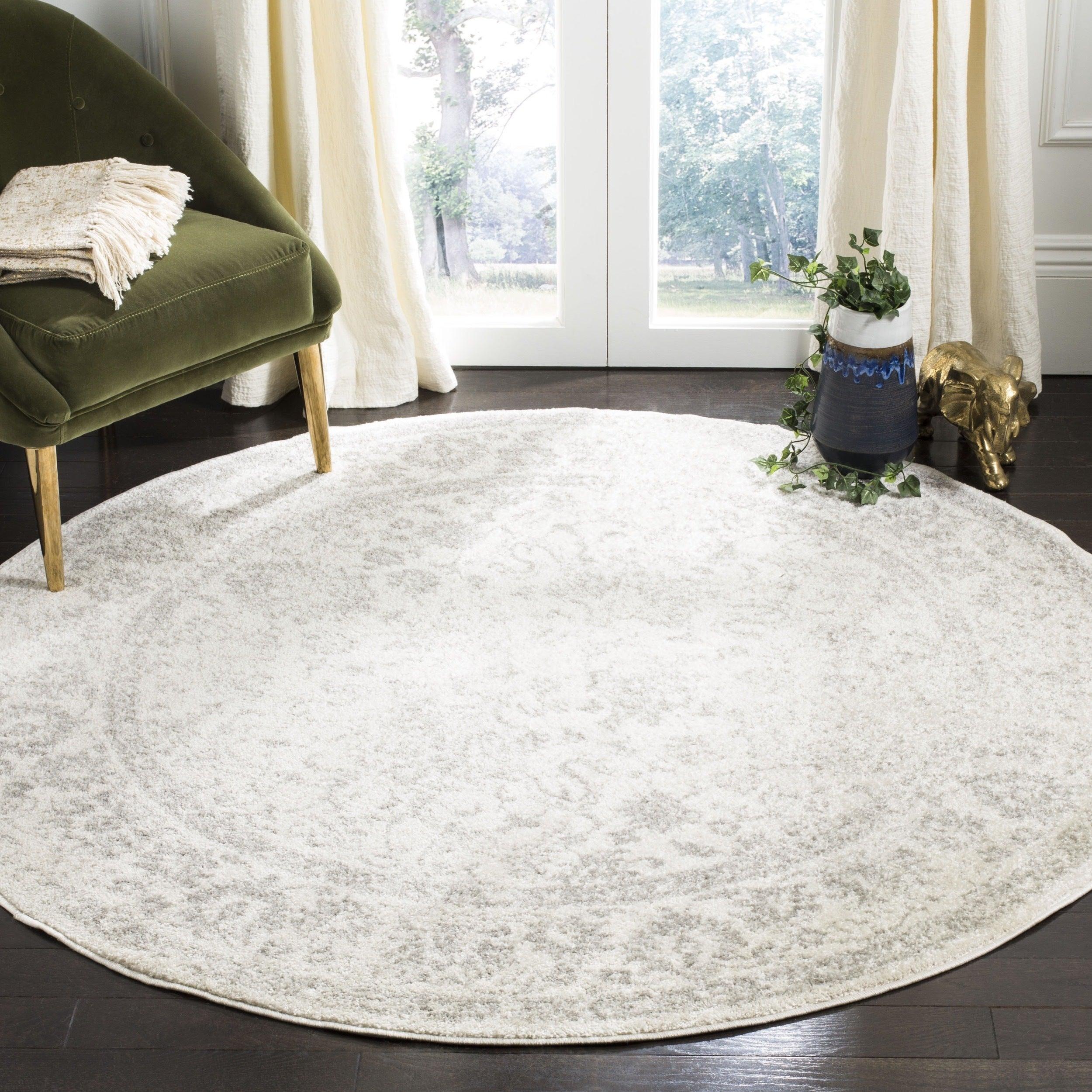 Safavieh Adirondack Contemporary Oriental/ Ivory/ Silver Area Rug ...