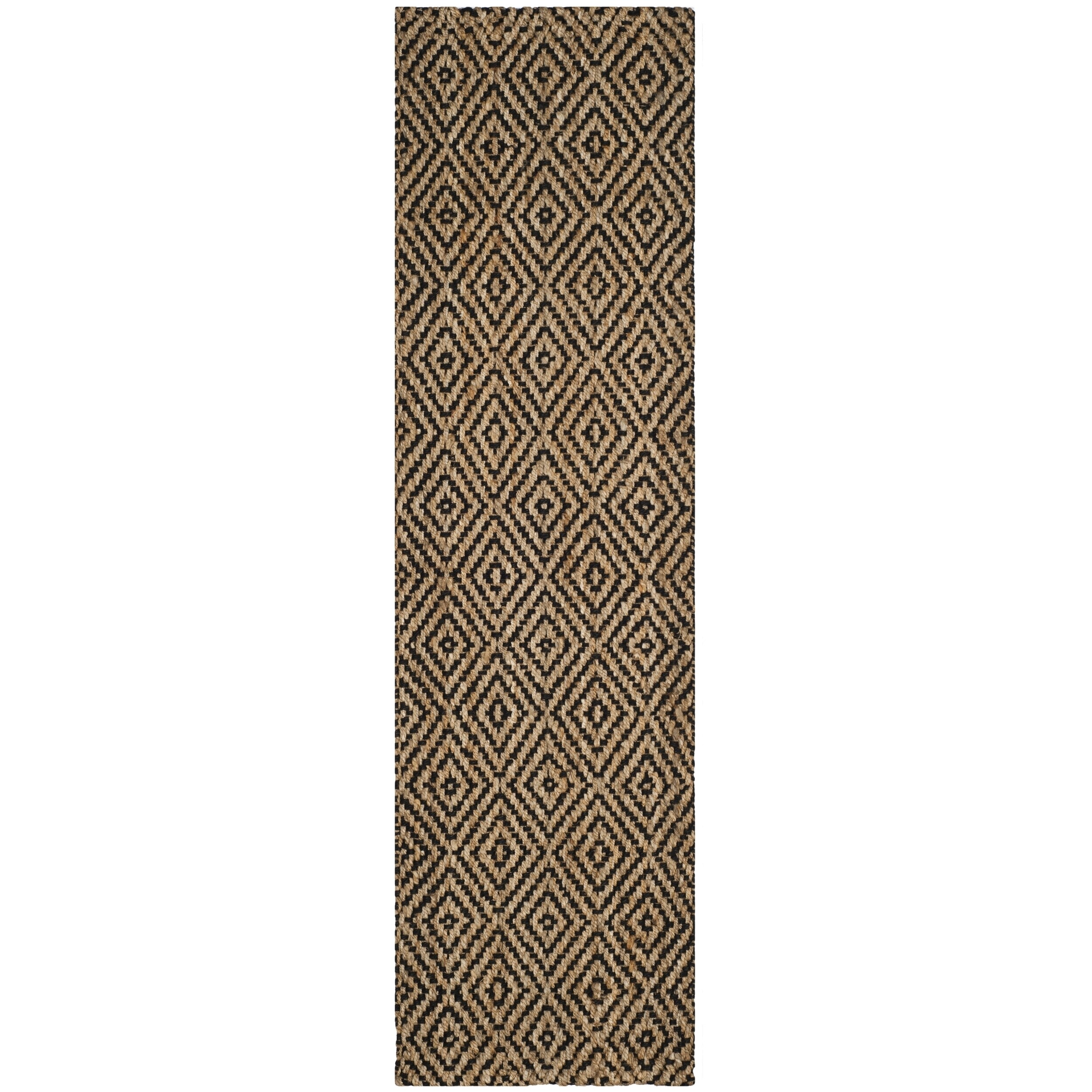 Safavieh Natural Fiber Coastal Solid Hand Woven Jute Black Runner Rug 2 3 X 14 On Free Shipping Today Com 16413036