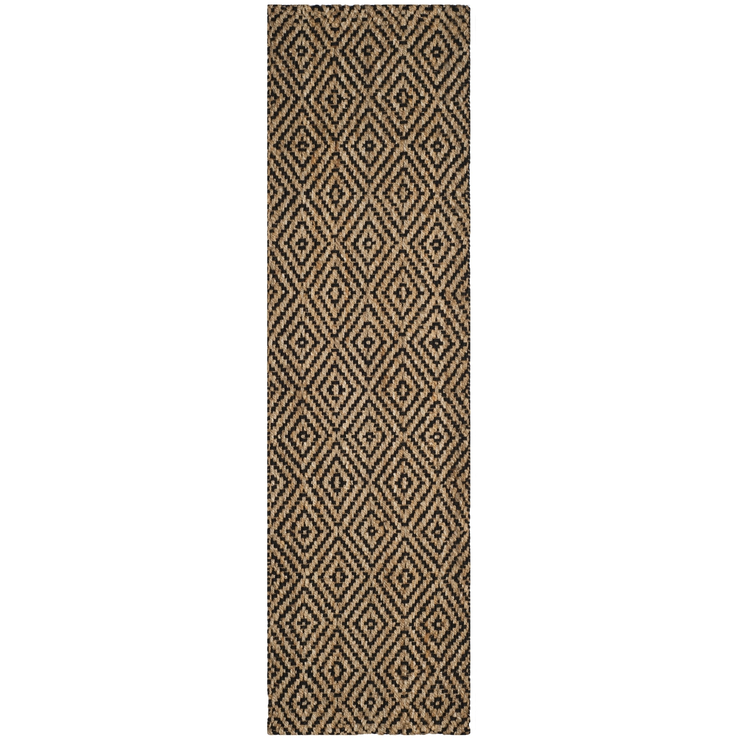 Safavieh Natural Fiber Coastal Solid Hand Woven Jute Black Runner Rug 2 3 X 16 On Free Shipping Today Com 16413044