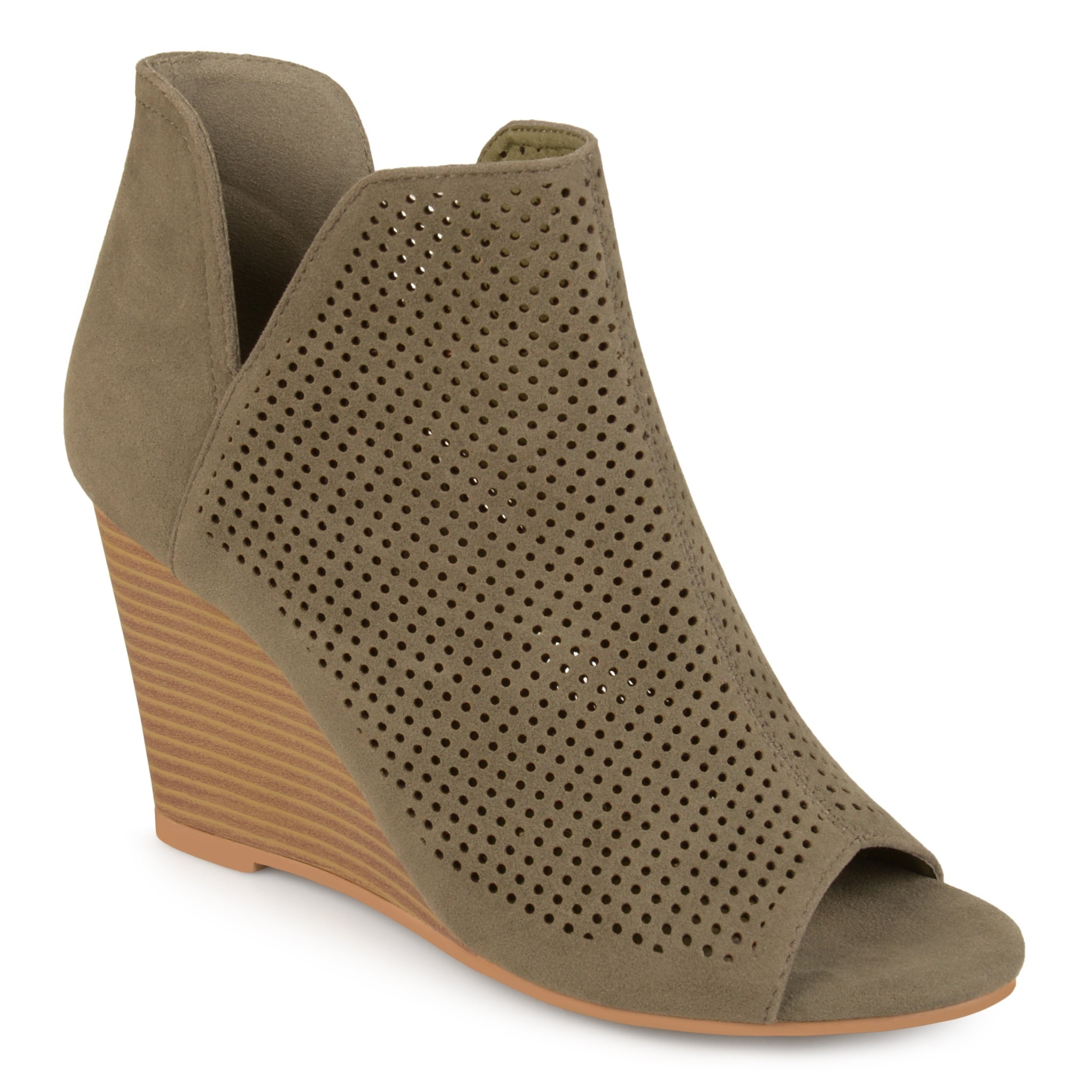 1c1704abb7fd Shop Journee Collection Women s  Andies  Open-toe Laser Cut Wedges - Free  Shipping Today - Overstock - 16413221
