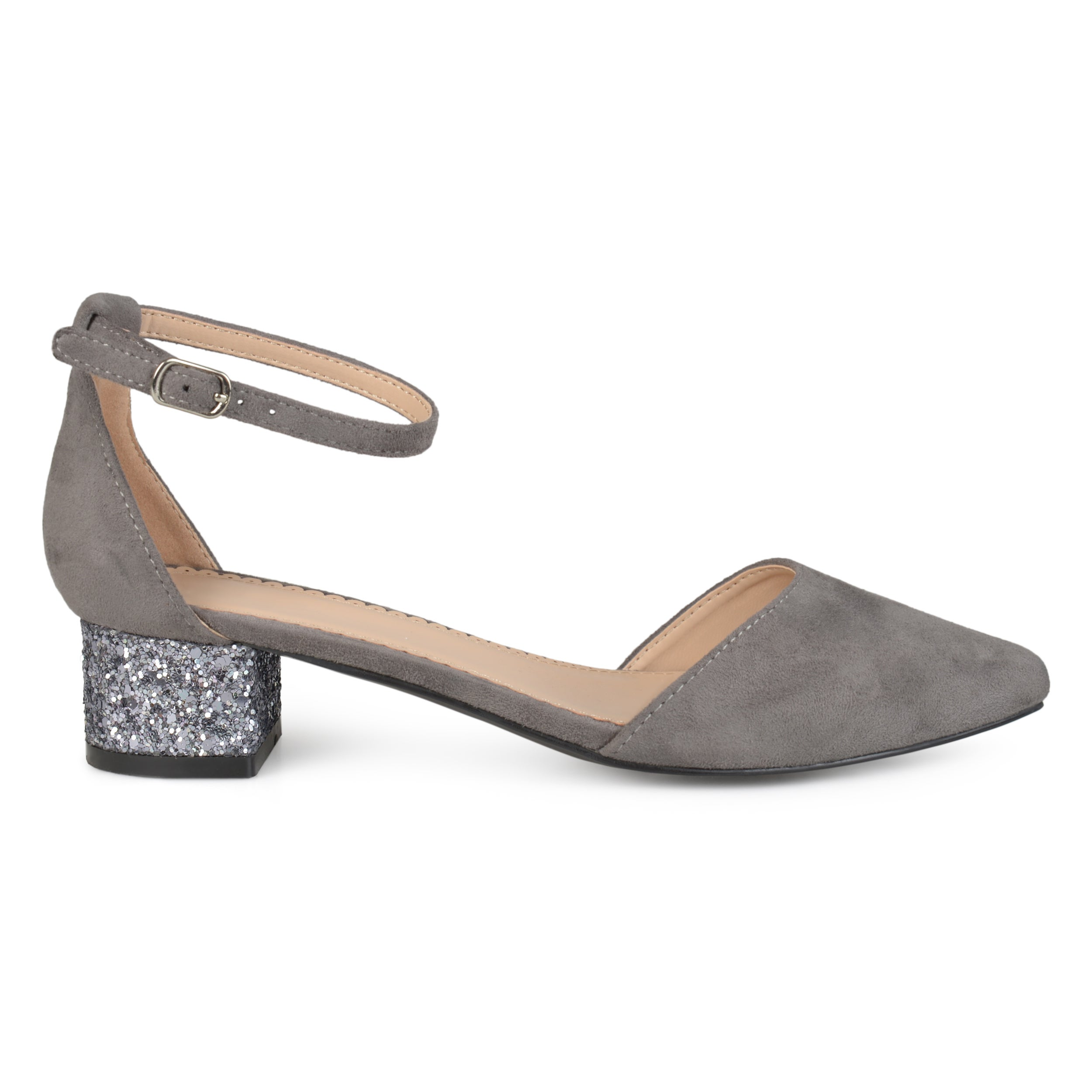 0c0745b11993 Shop Journee Collection Women's 'Maisy' Pointed Toe Ankle Strap Glitter  Heels - Free Shipping On Orders Over $45 - Overstock - 16413230