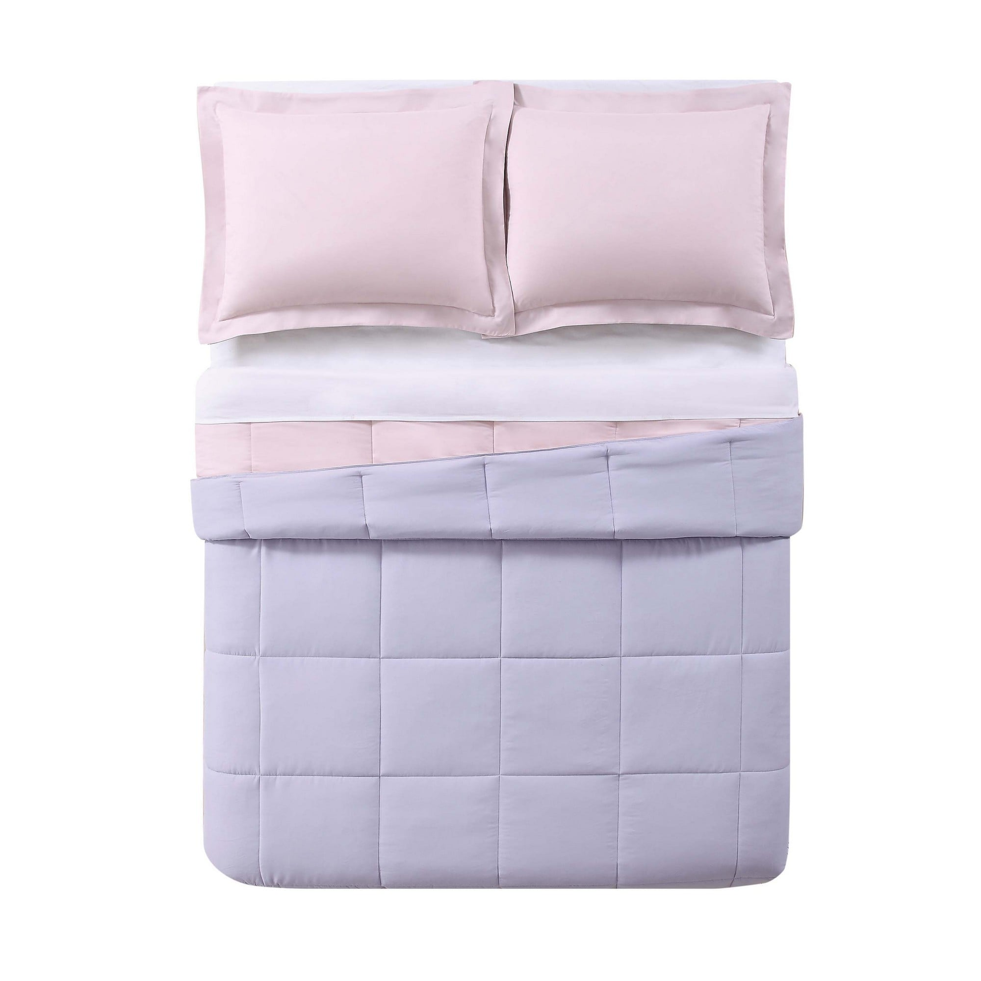 overstock free fiesta bedskirt bath set luna pintuck shipping piece comforter color solid included product cotton today bedding