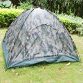 Four Person Outdoor Camping Tent Green Camo
