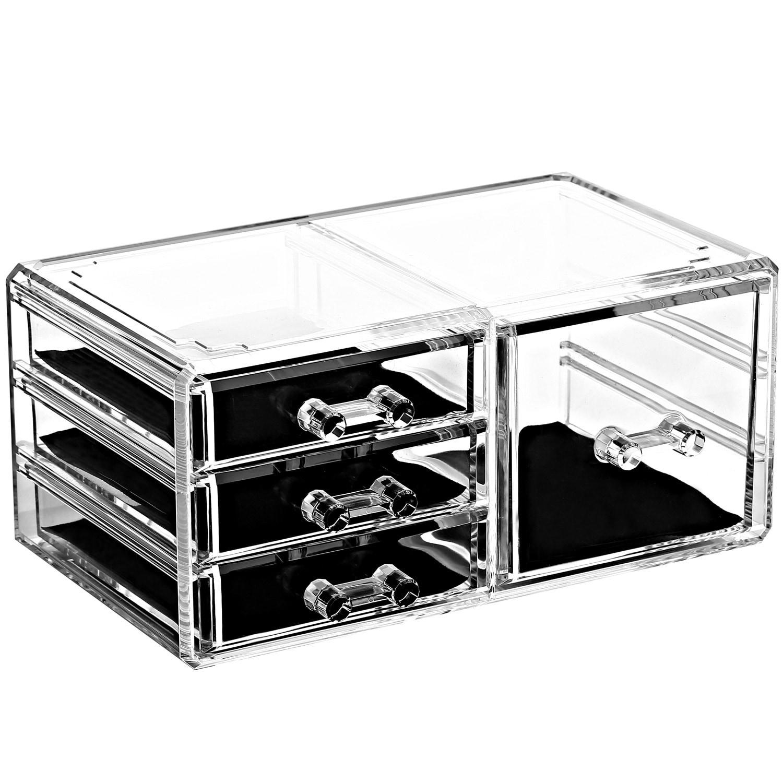 Ikee Design Acrylic Jewelry and Makeup Organizer Storage Drawer 4