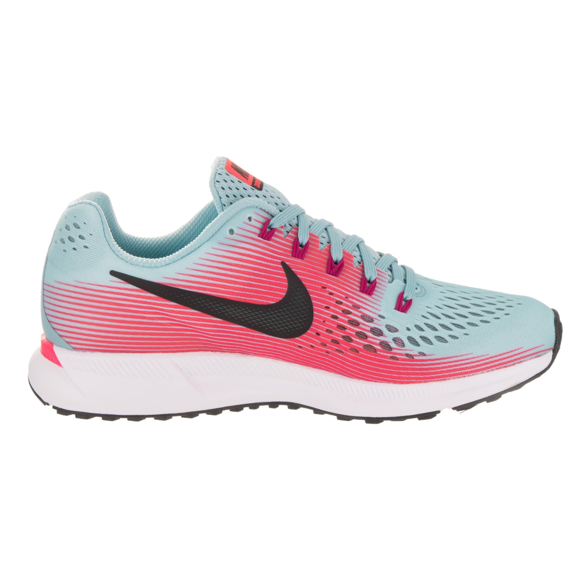 e229f2eb30b24 inexpensive shop nike womens air zoom pegasus 34 blue pink synthetic  leather running shoes free shipping