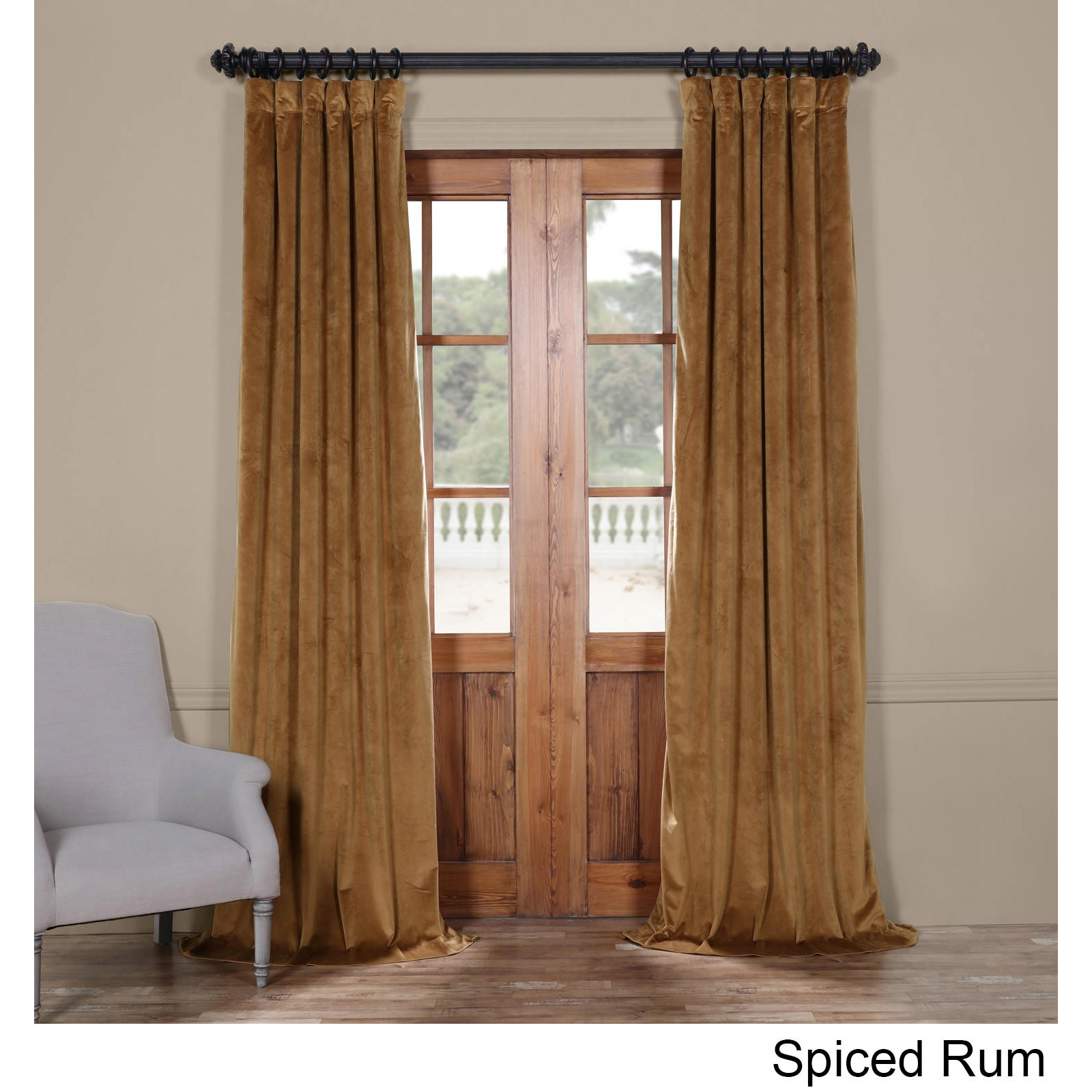 Exclusive Fabrics Heritage Plush Velvet Curtain   Free Shipping Today    Overstock.com   22827245