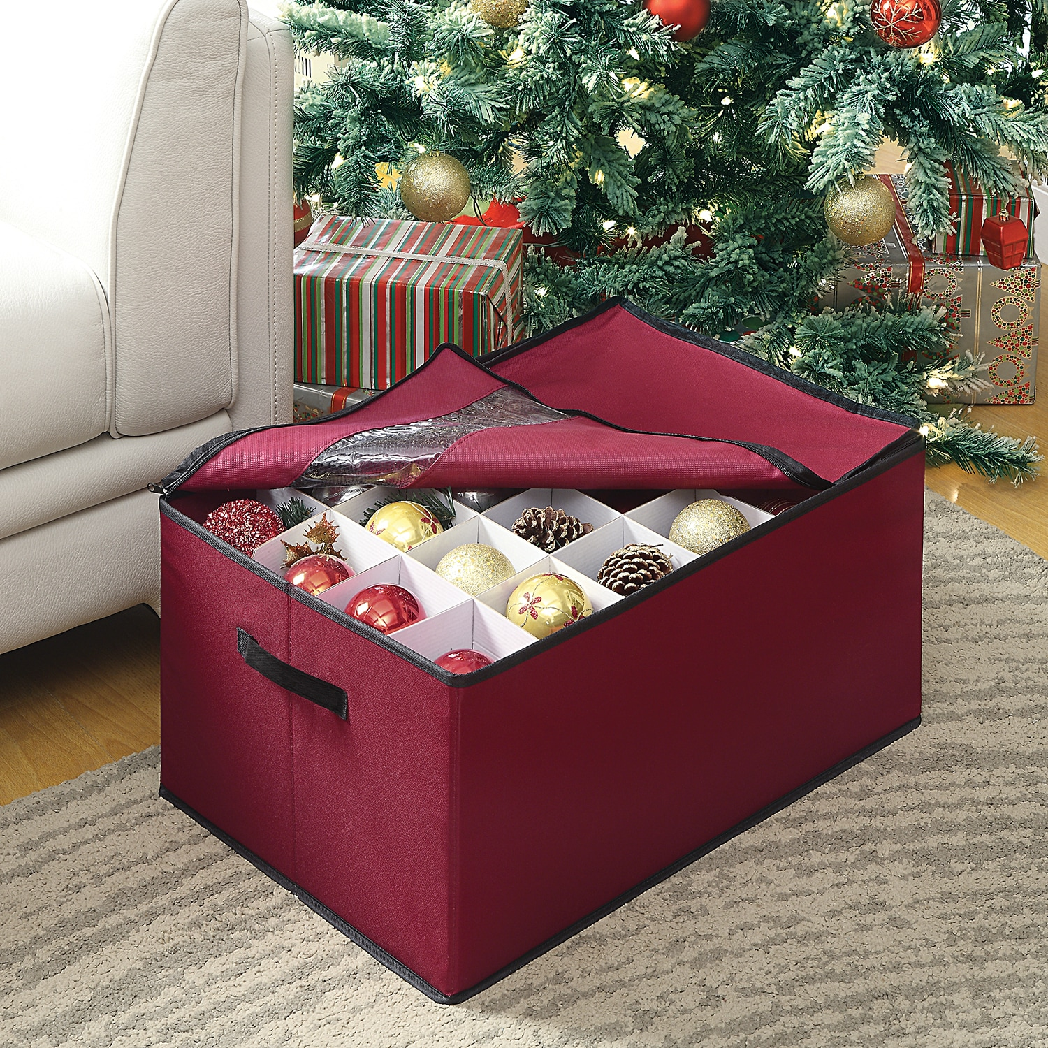 shop christmas ornament storage box free shipping on orders over 45 overstockcom 16489216 - Christmas Decoration Storage Box