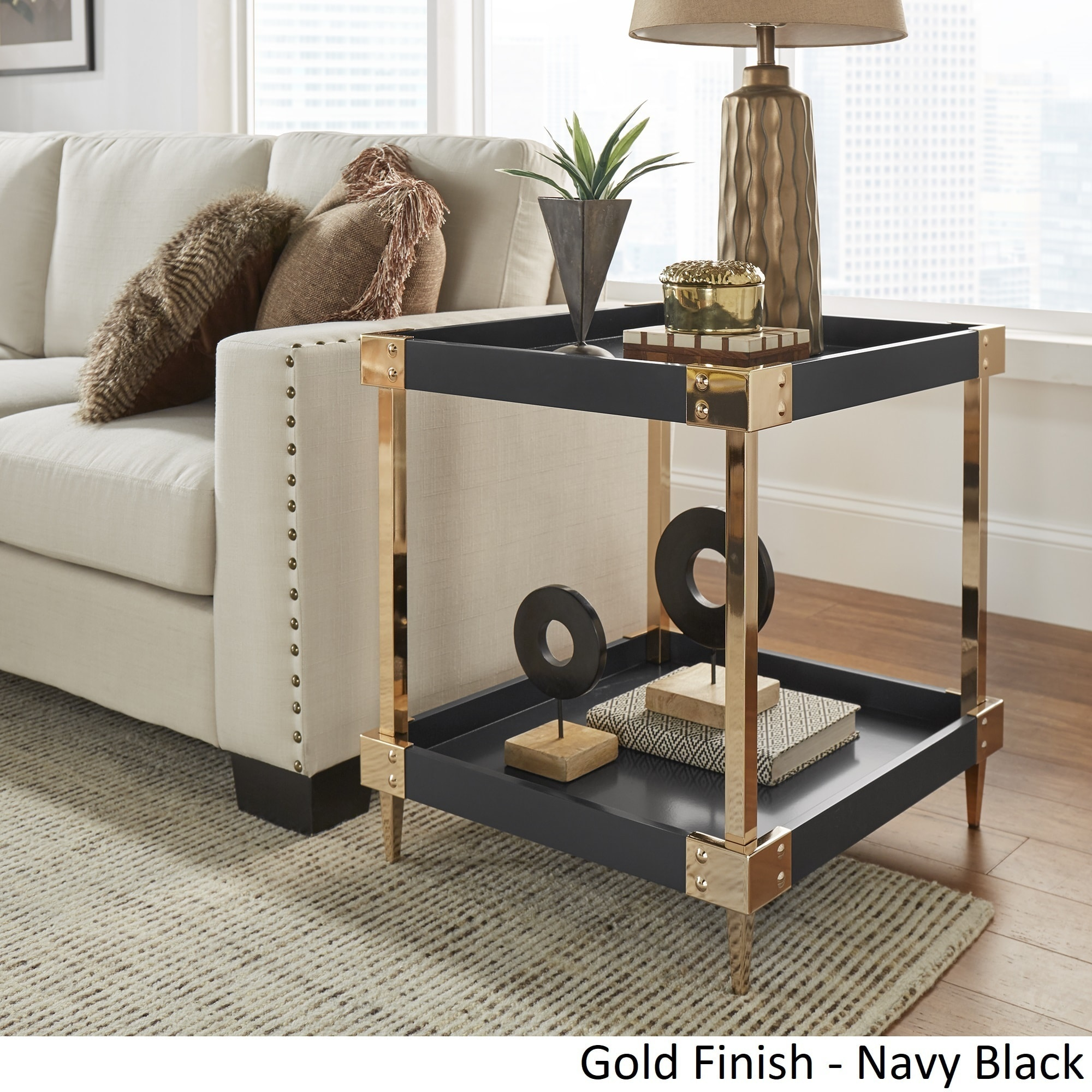 Kaila Modern Metal Accent End Table Nightstand by iNSPIRE Q Bold - Free  Shipping Today - Overstock.com - 22829048