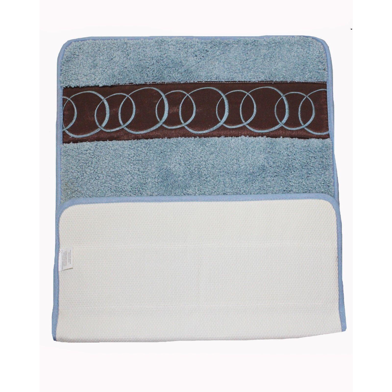 Shop Super Soft Light Blue Latex Backing Non Slip Bath Rug 18 X 30