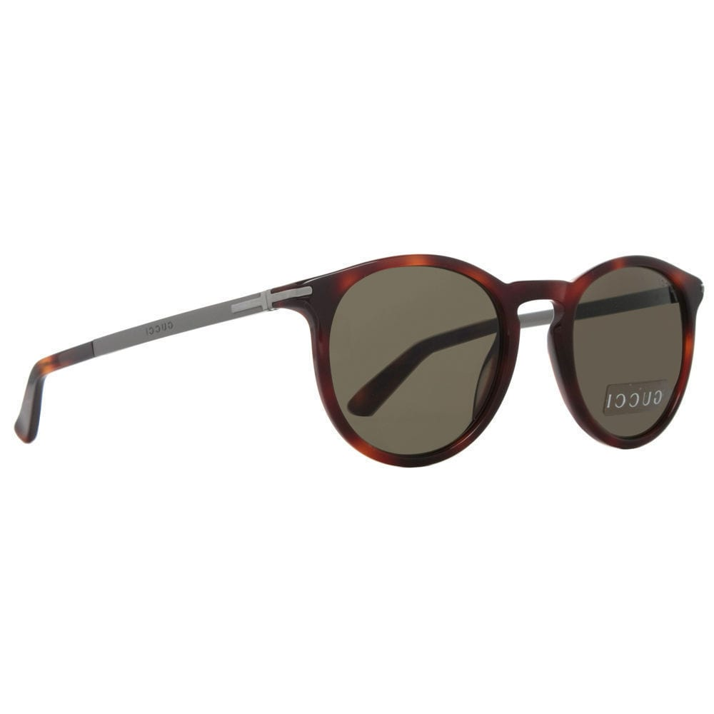 1199bc7b8da Shop Gucci GG 1110 S 8E270 Havana Dark Ruthenium Frame Brown Lens  Sunglasses - Free Shipping Today - Overstock - 16490112