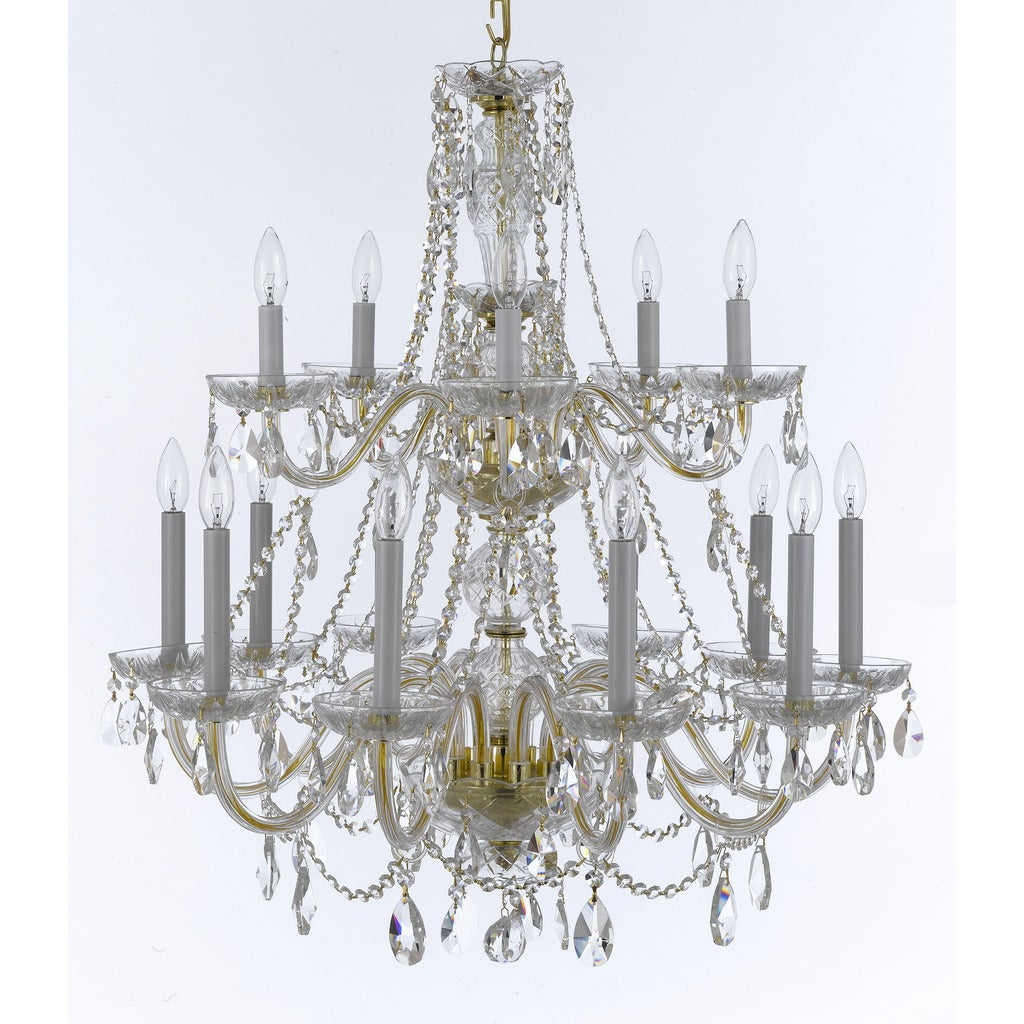 Weinstock 15 light french pendelogue crystal trim goldtone crystal weinstock 15 light french pendelogue crystal trim goldtone crystal chandelier free shipping today overstock 22830706 arubaitofo Gallery