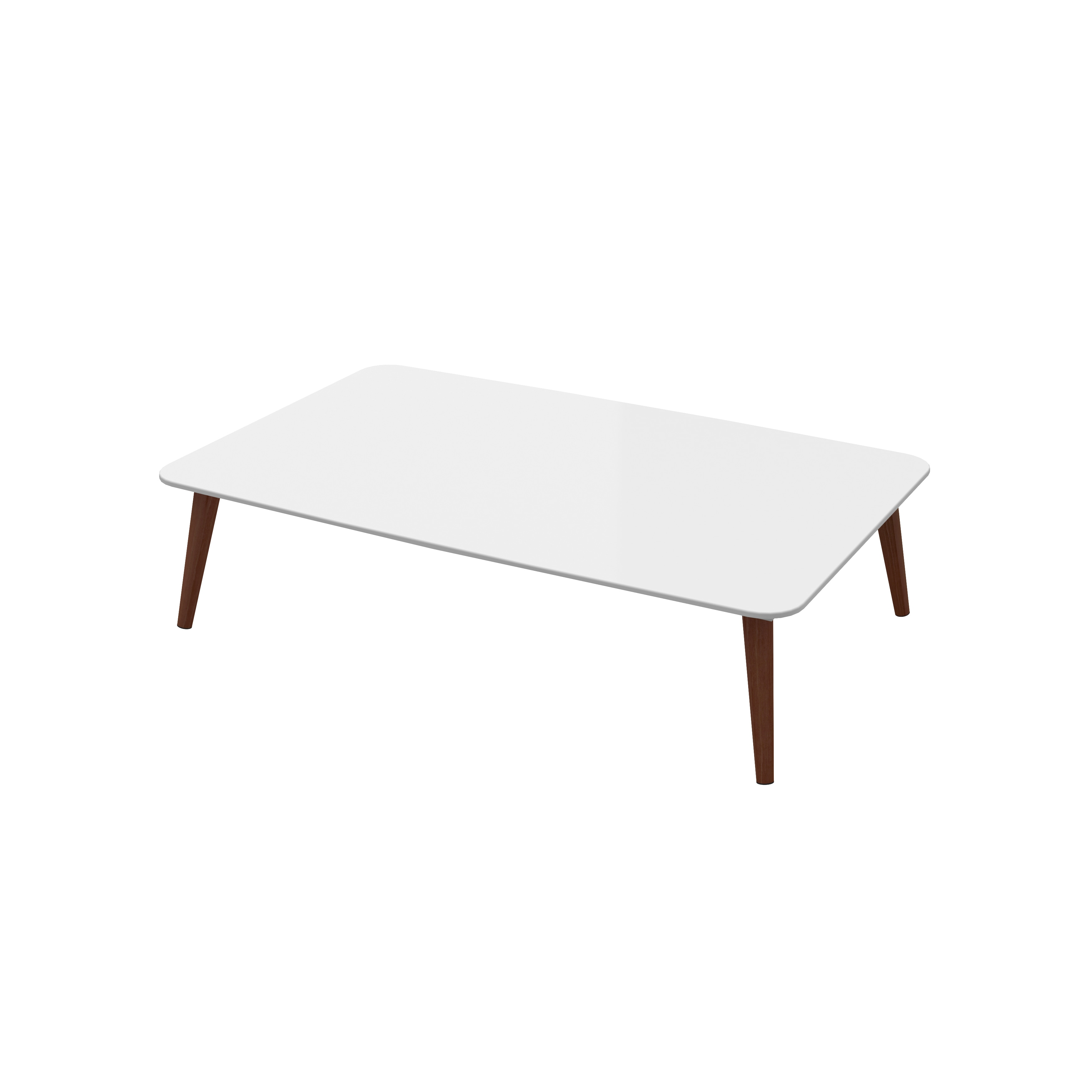 Shop White Lacquer Spindle Legs Mid Century Coffee Table On Sale