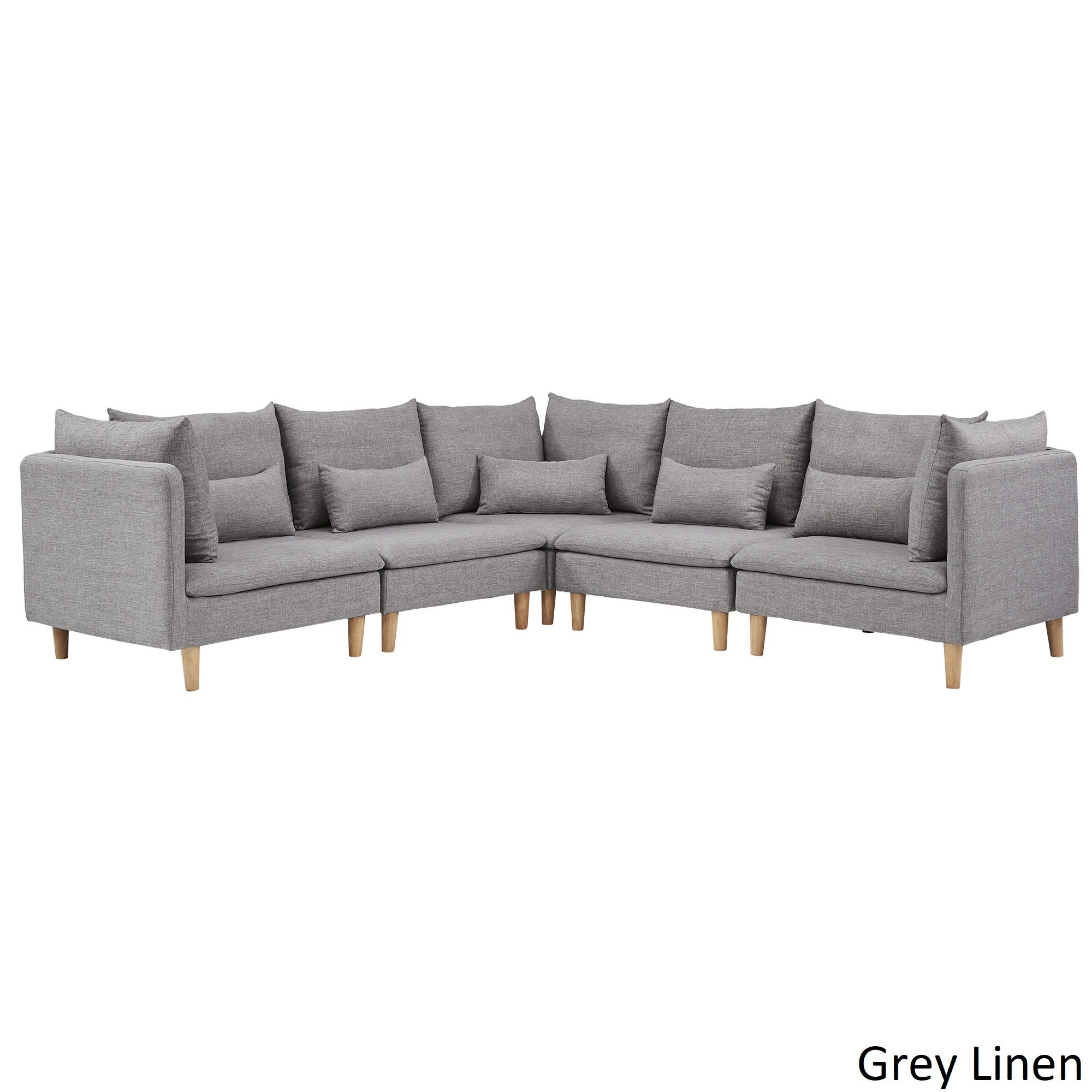Malina Modular Fabric L-Shaped Sectional Sofa by iNSPIRE Q Modern - Free  Shipping Today - Overstock.com - 22834807