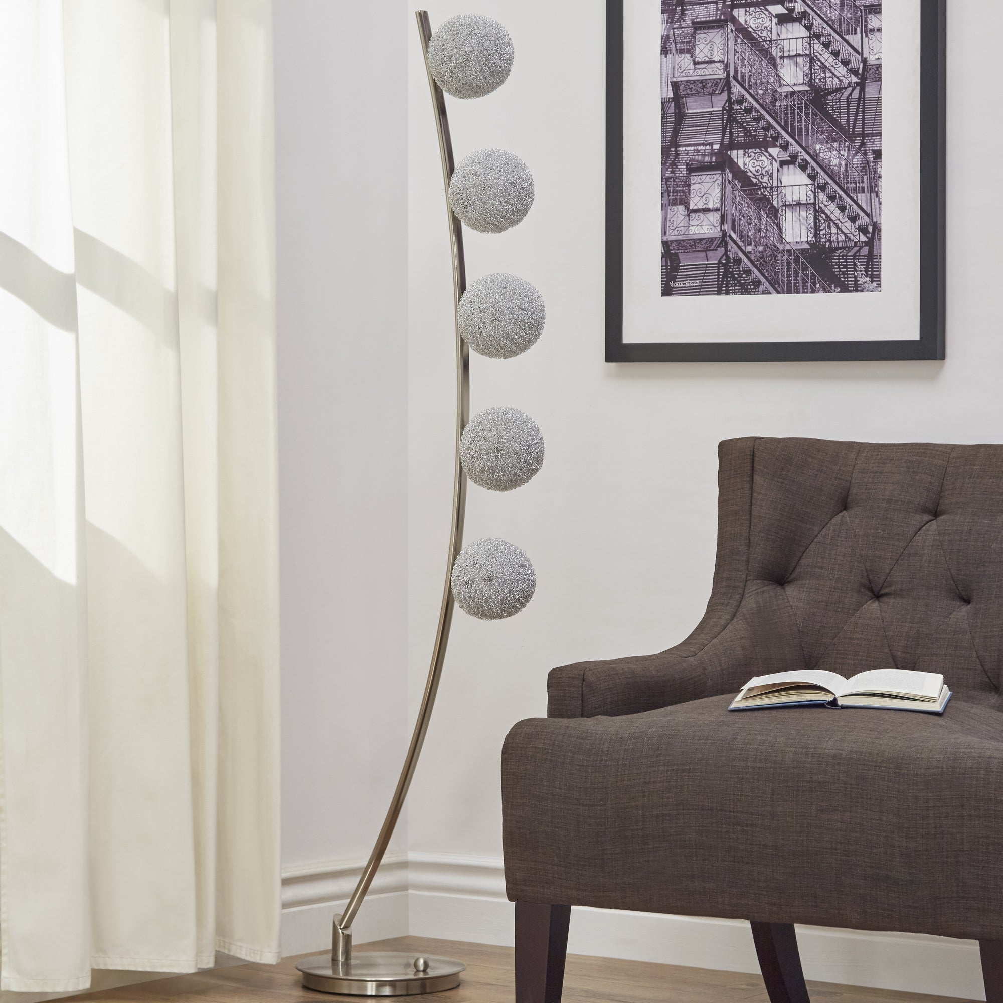 Triella Nickel Finish Floor Lamp by iNSPIRE Q Bold - Free Shipping Today -  Overstock.com - 22835677