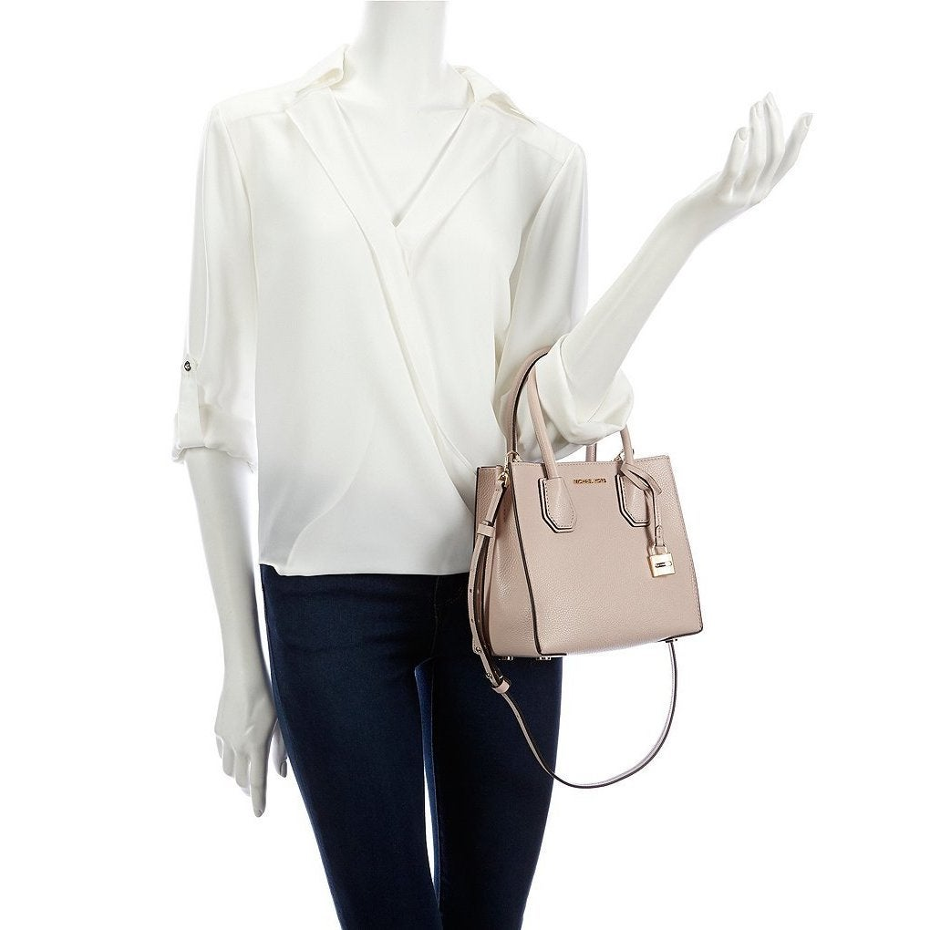 2f3ad814398 Shop Michael Kors Kors Studio Mercer Soft Pink Leather Medium Satchel  Handbag - Free Shipping Today - Overstock - 16497895