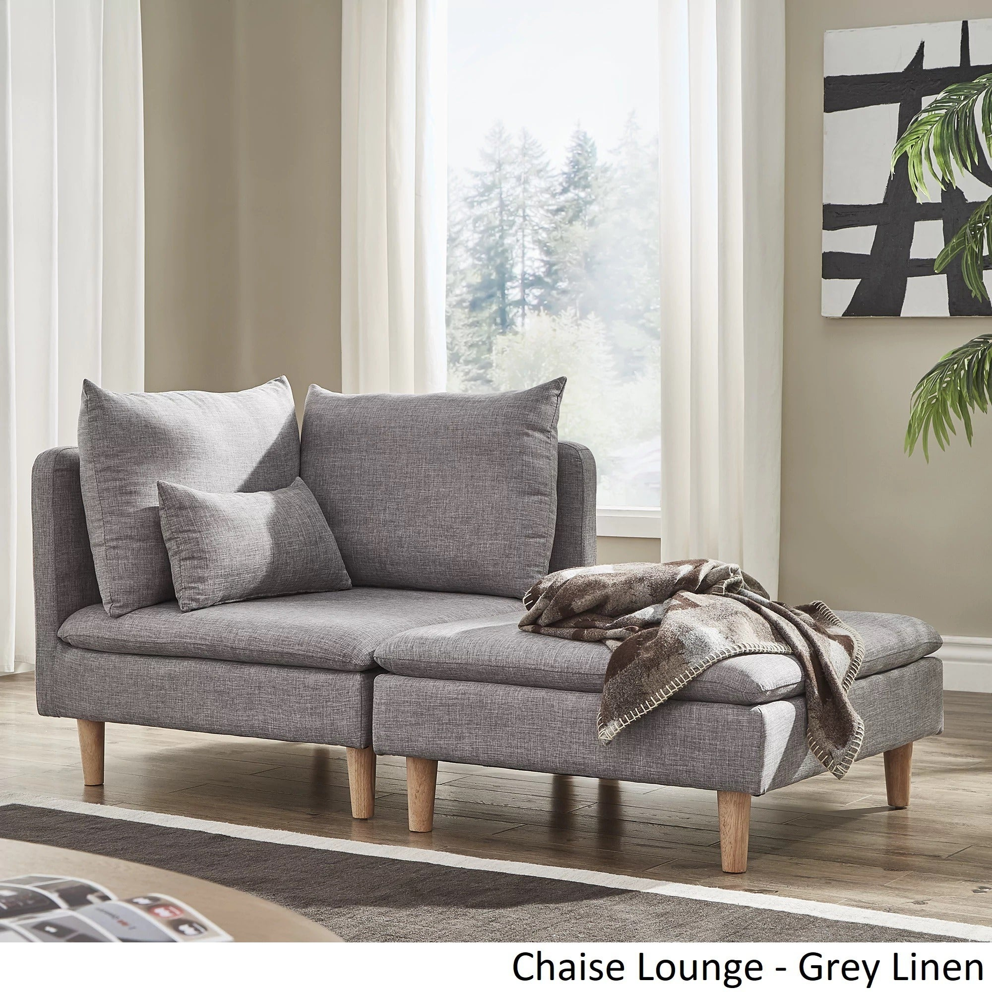 Malina Modular Mid-Century Chaise Lounges by iNSPIRE Q Modern - Free  Shipping Today - Overstock.com - 22836658