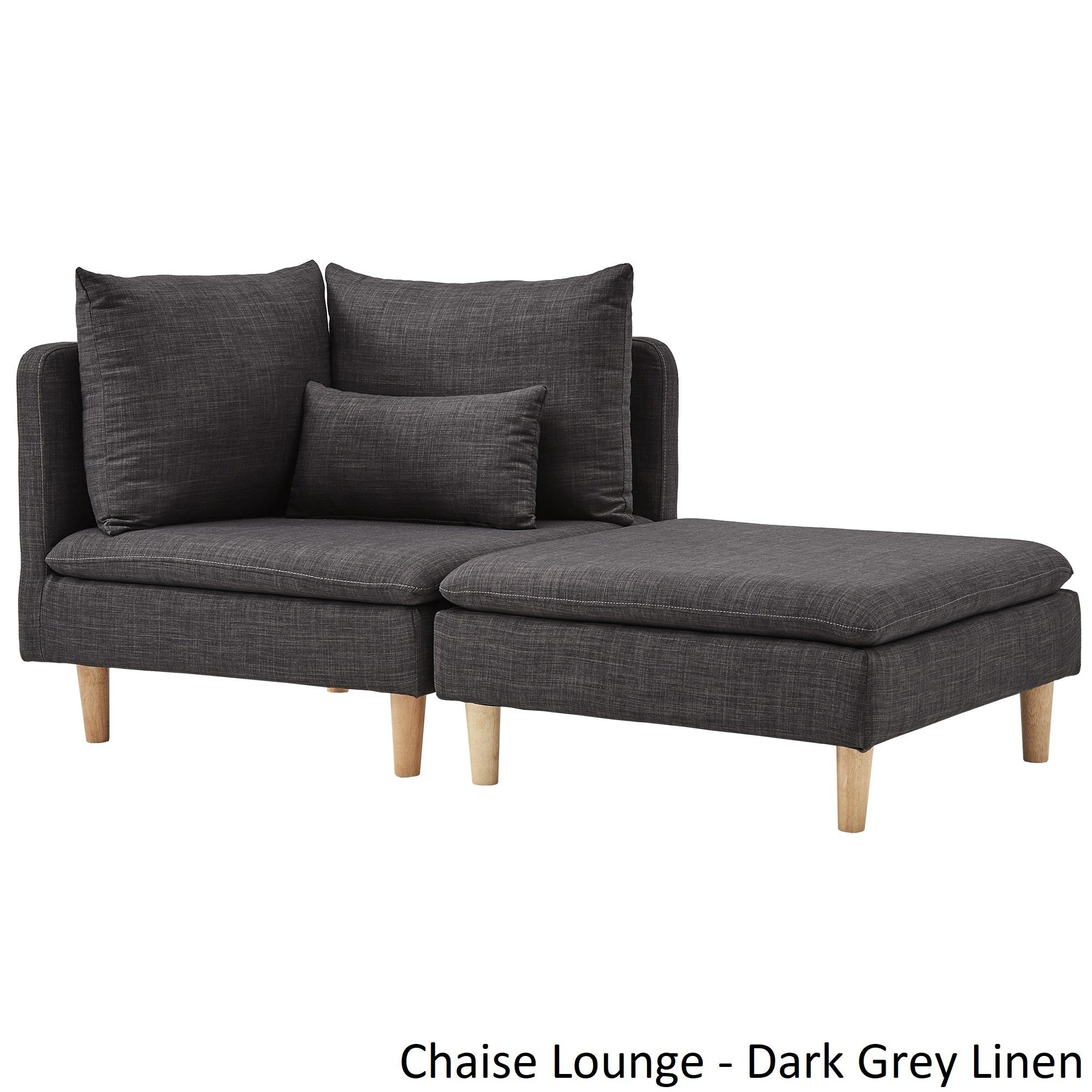 facing furniture mid modern by century benchcraft corner chaise products chaises arm right