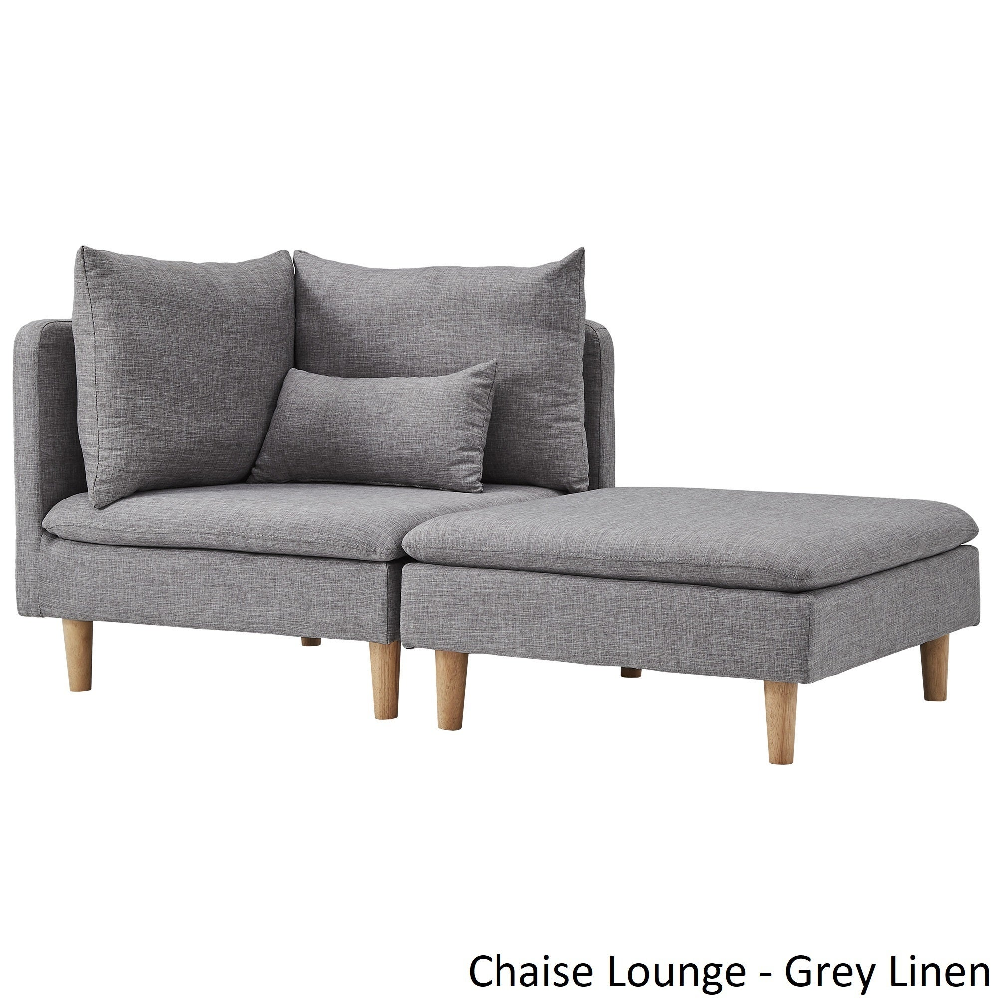 Contemporary Small Chaise Lounge Tufted With Pillow