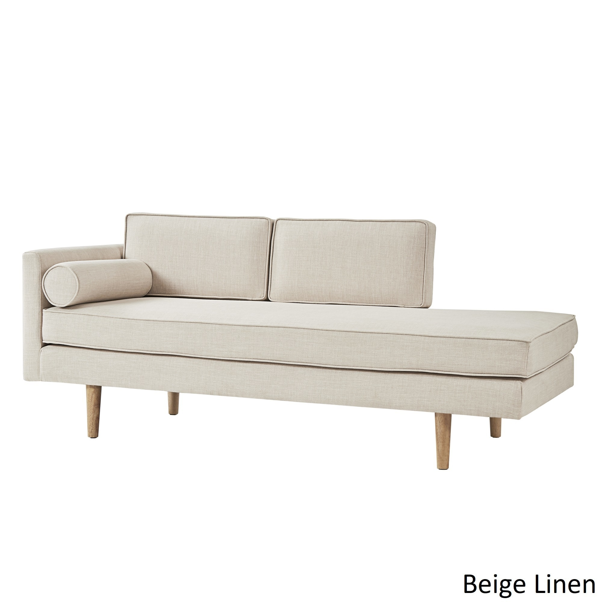 Caela Mid Century Chaise Lounge With Pillow By Inspire Q Modern  ~ Mid Century Chaise Sofa