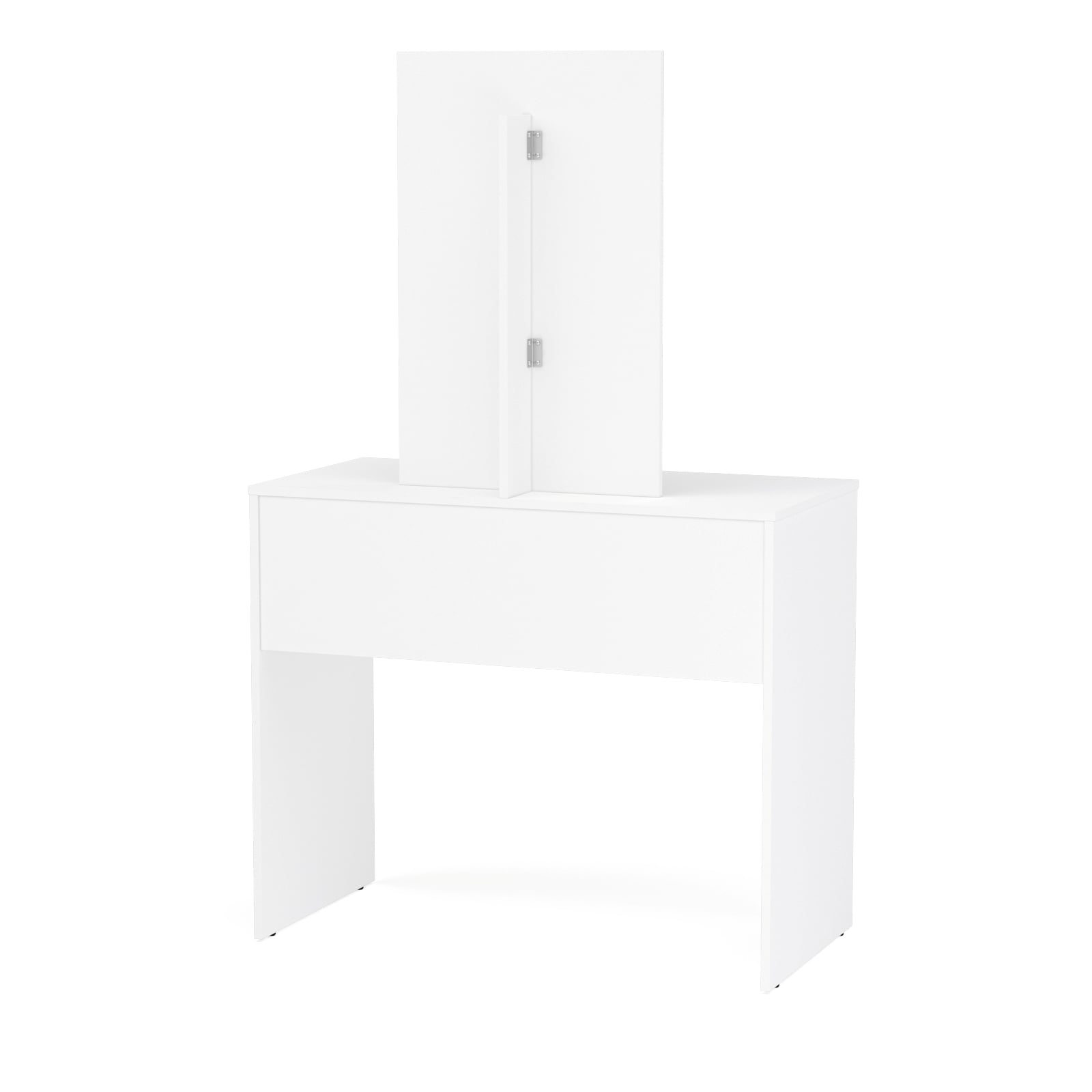 Shop Boahaus Contemporary White Vanity Set With Dressing Table With Mirror  And 2 Drawers   On Sale   Free Shipping Today   Overstock.com   16518254