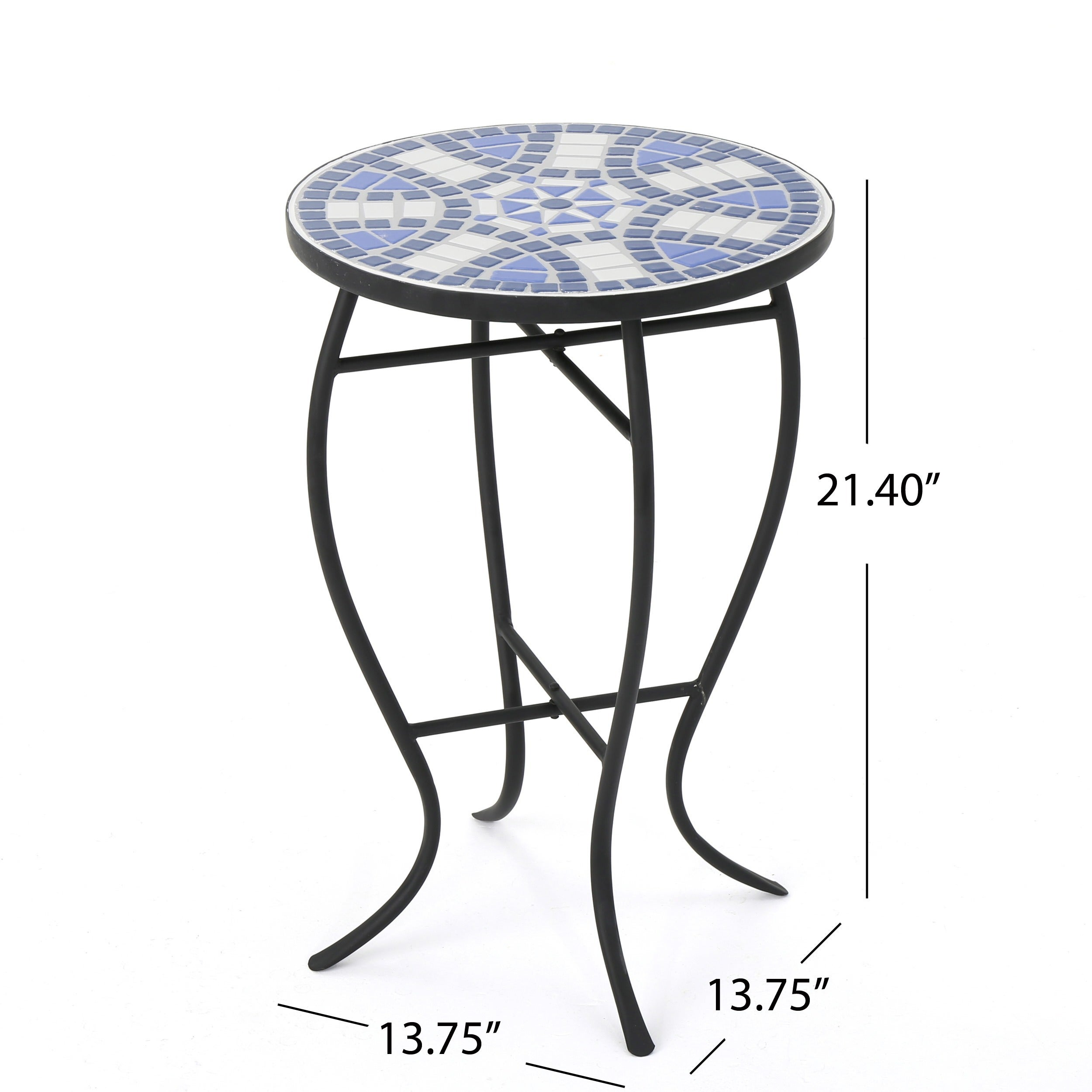 Shop Han Outdoor Round Tile Side Table By Christopher Knight Home