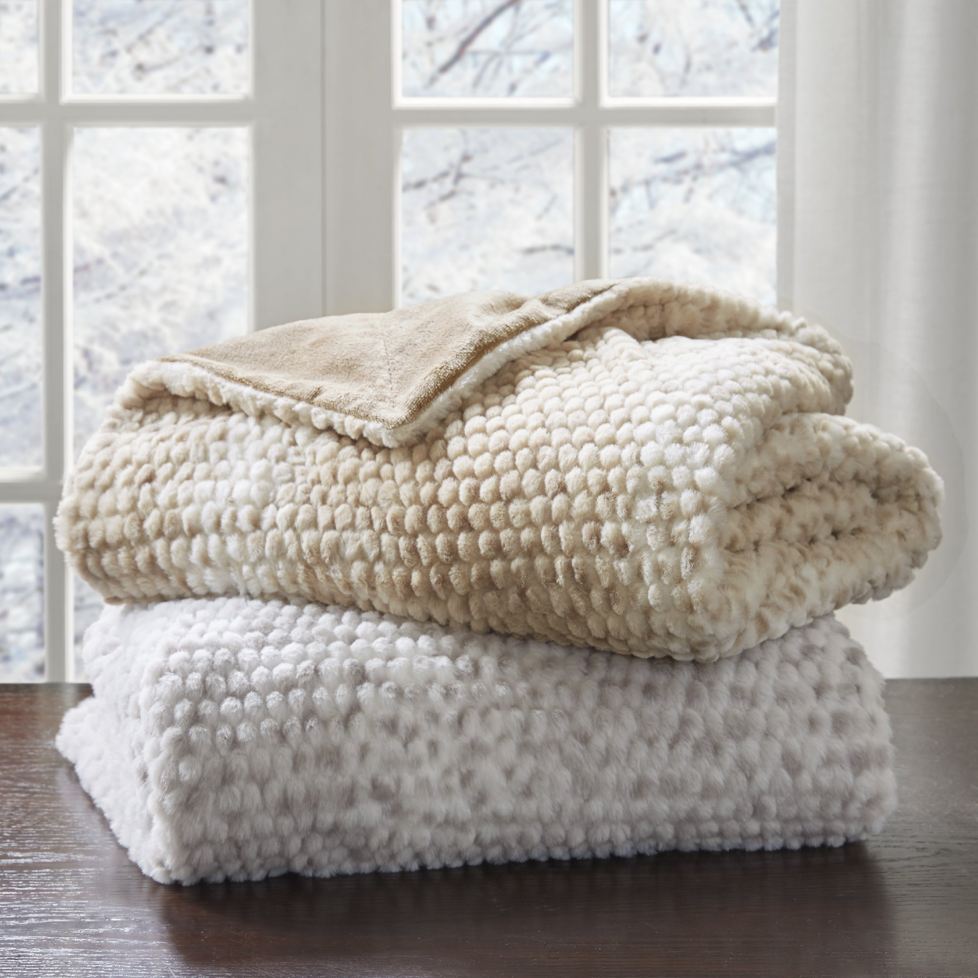 Madison Park Ira Luxury Faux Fur Throw Free Shipping Orders