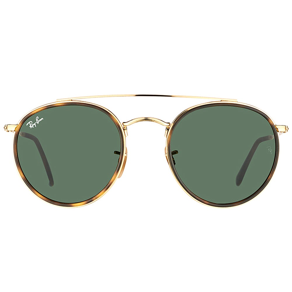 8283443adf9 Shop Ray-Ban RB 3647N 001 Round Double Bridge Gold Havana Metal Round  Sunglasses Green Lens - On Sale - Free Shipping Today - Overstock - 16563187