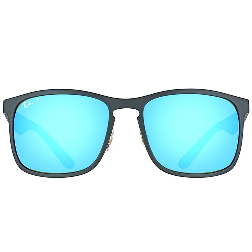 de3fd0a244 Shop Ray-Ban RB 4264 601SA1 Matte Black Plastic Square Sunglasses Blue  Flash Polarized Chromance Lens - Free Shipping Today - Overstock - 16563198