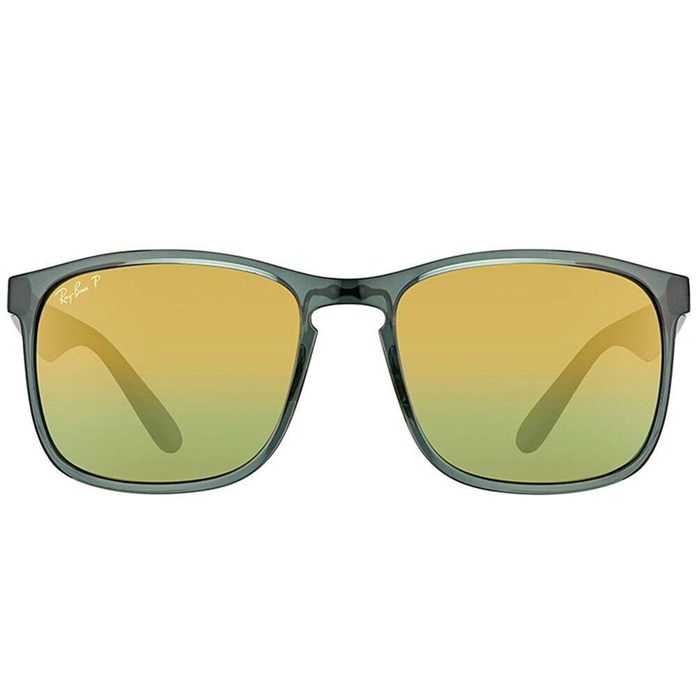 1e3dcd905d Shop Ray-Ban RB 4264 876 6O Shiny Grey Plastic Square Sunglasses Gold Flash  Polarized Chromance Lens - Free Shipping Today - Overstock - 16563200