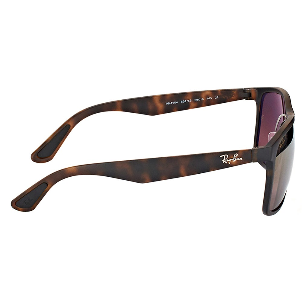 3e3329eaa3 Shop Ray-Ban RB 4264 894 6B Matte Havana Plastic Square Sunglasses Brown  Flash Polarized Chromance Lens - Free Shipping Today - Overstock - 16563215