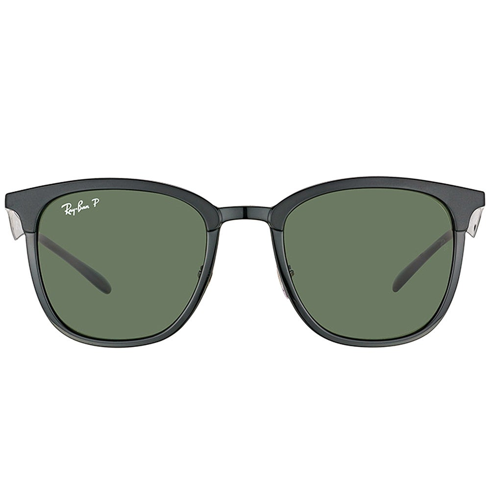 ee1bb140d3 Shop Ray-Ban RB 4278 62829A Black Matte Black Plastic Square Sunglasses  Green Polarized Lens - Free Shipping Today - Overstock - 16563218