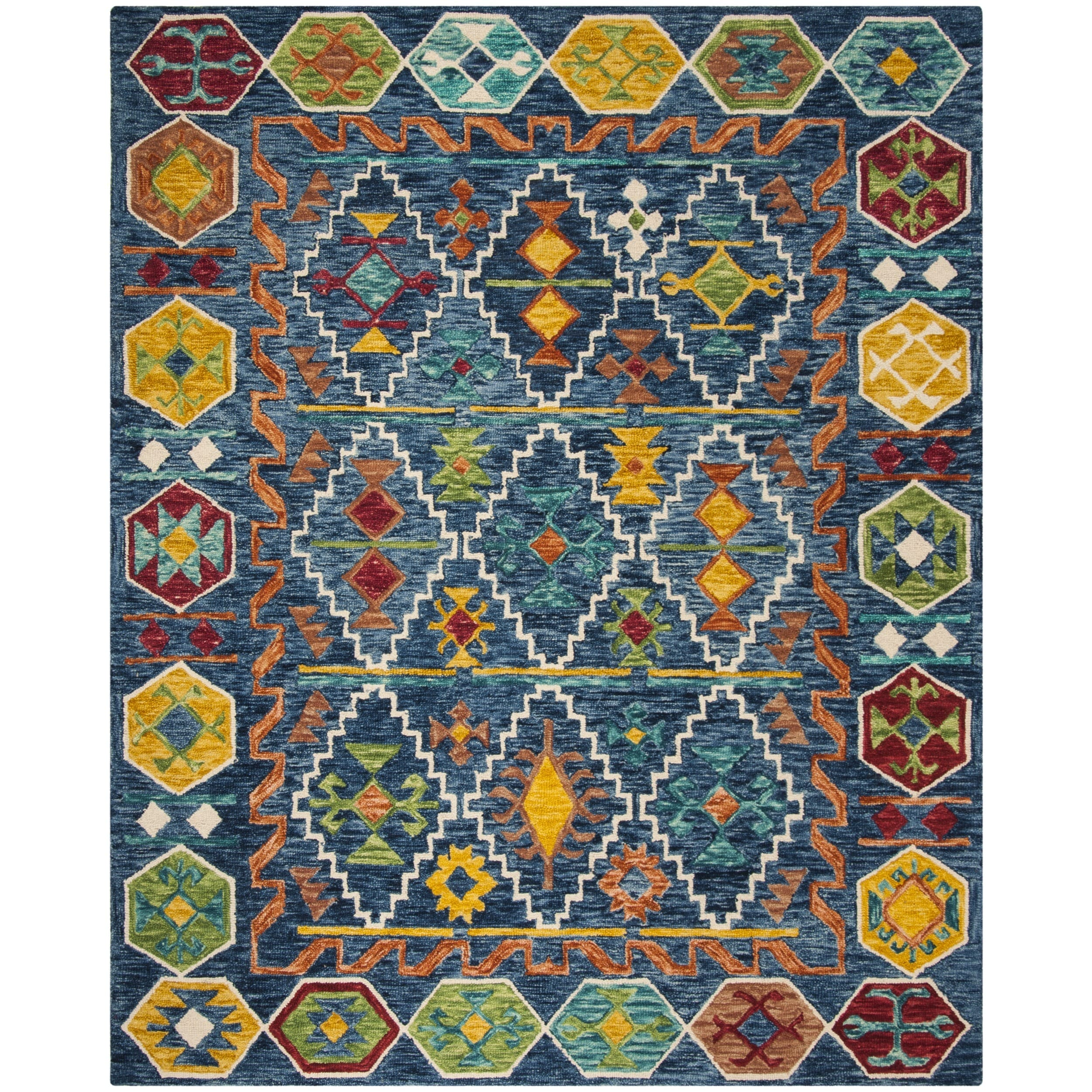 new copper fe sonoma rugs products southwestern santa colored mexico rug southwest woodwaves