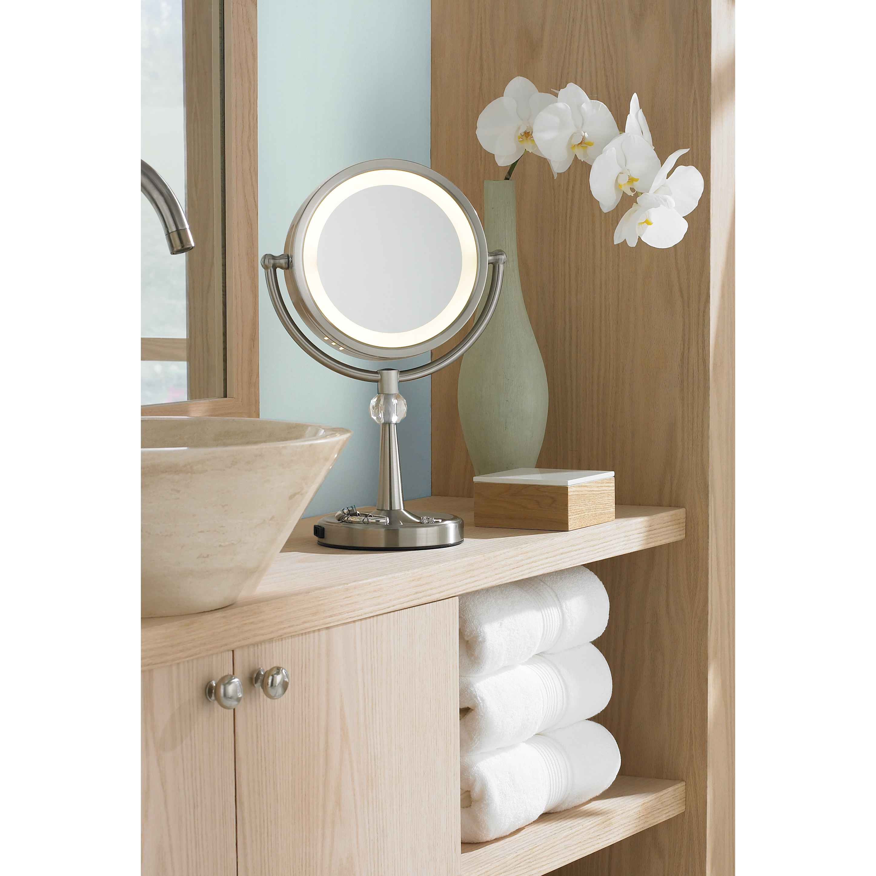 mirror up lighted htm makeup make wall light led mounted vanity