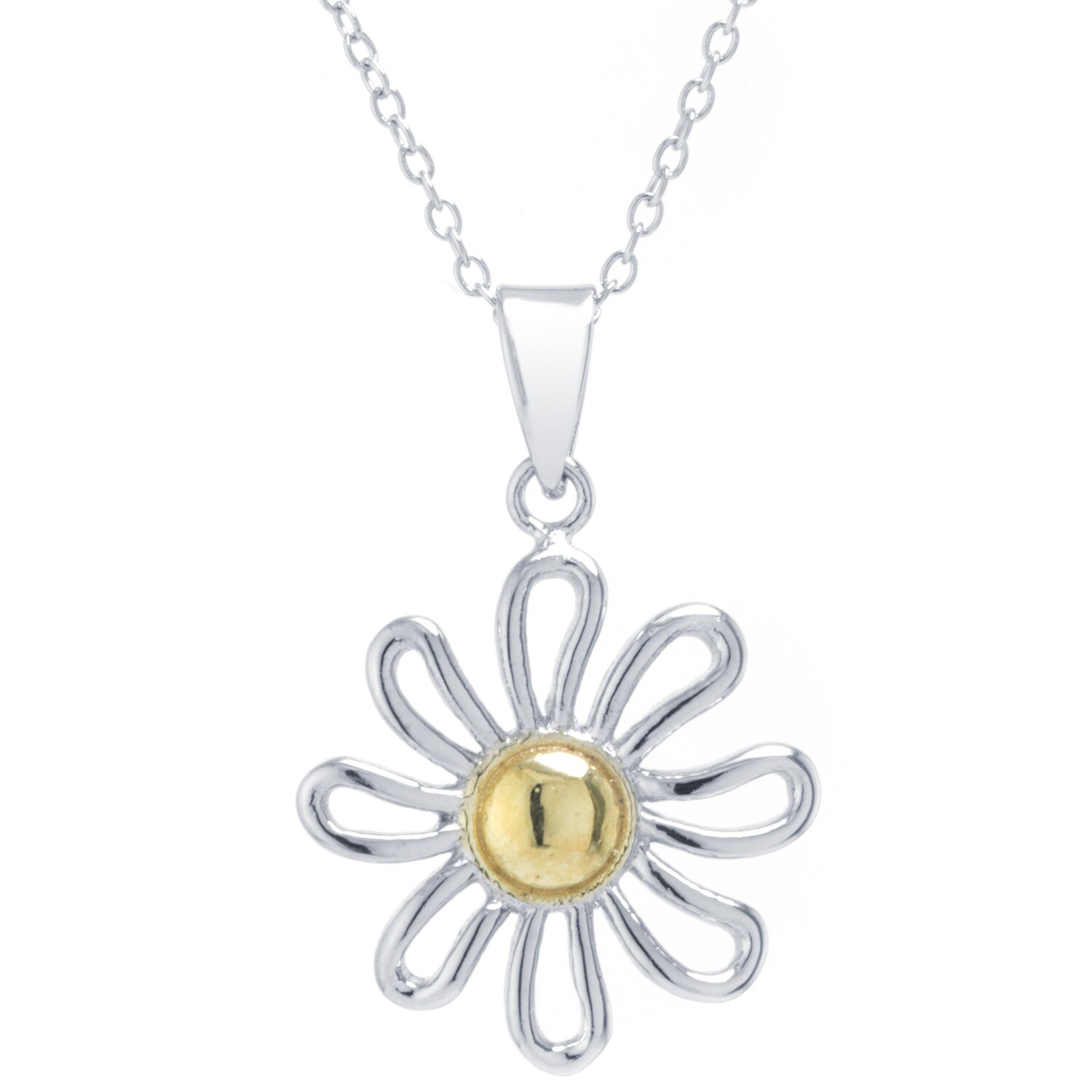 watches daisy over on necklace shipping product pendant silver free sterling jewelry orders two overstock tone