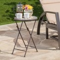 Silvester Outdoor Round Stone Side Table/ Planter by Christopher Knight Home