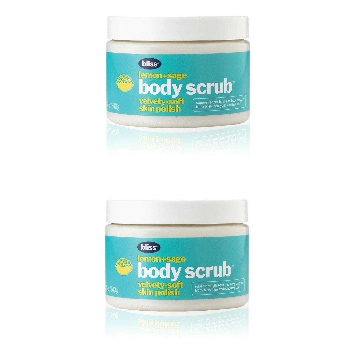 Bliss Lemon+Sage 12.1-ounce Body Scrub Vevety-Soft Skin Polish ...