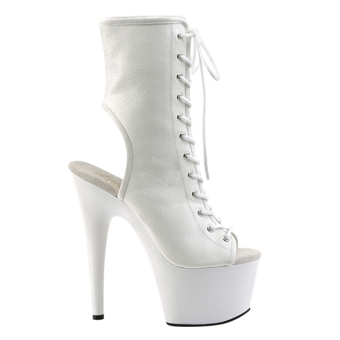 8566b57d276ca Shop Pleaser ADORE-1016 Women's Platform Open Toe/Heel Side Zip Lace-Up Ankle  Boot - Free Shipping Today - Overstock - 16569841