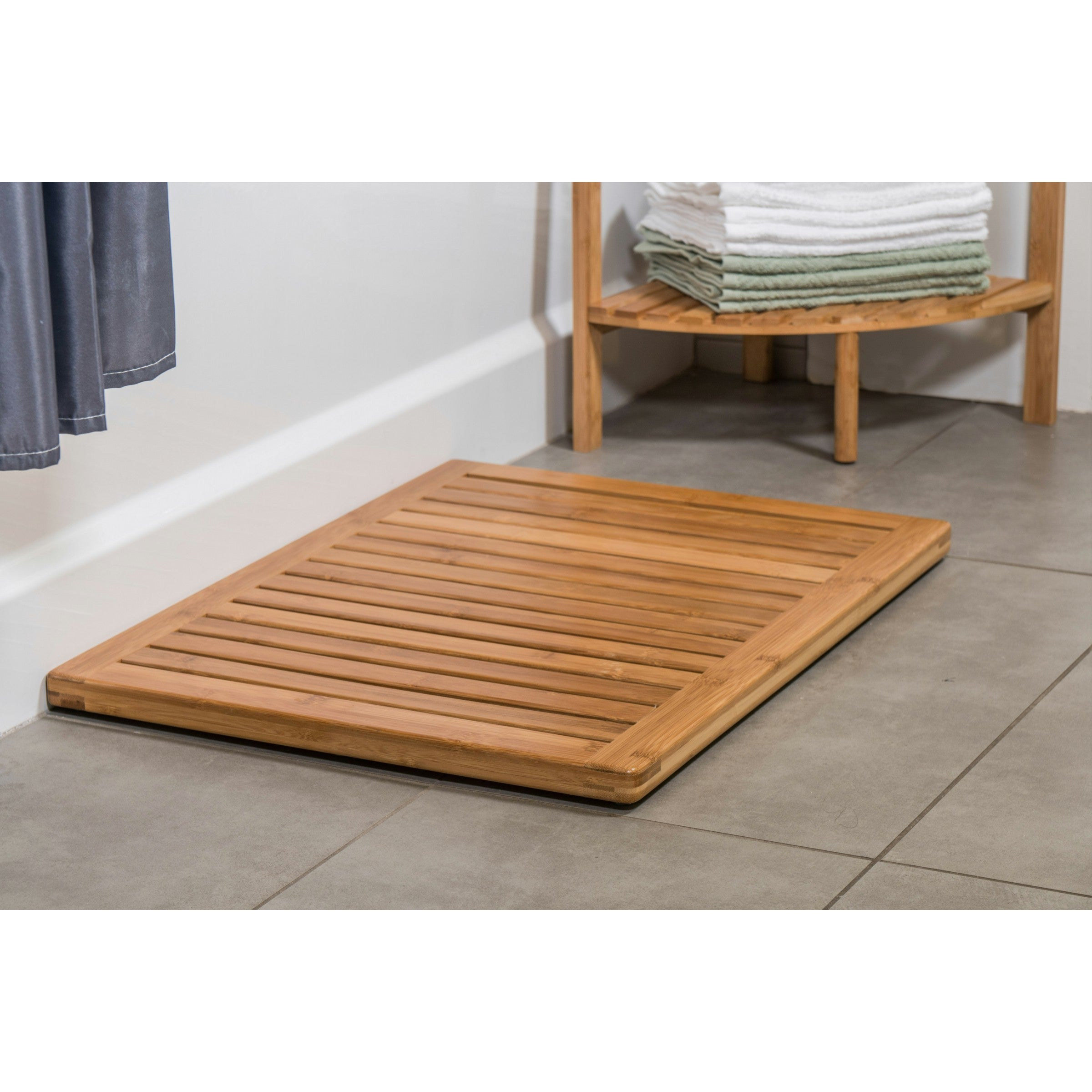 Ordinaire Shop 18x24 Inch Bamboo Bath Mat   On Sale   Free Shipping Today    Overstock.com   16586669